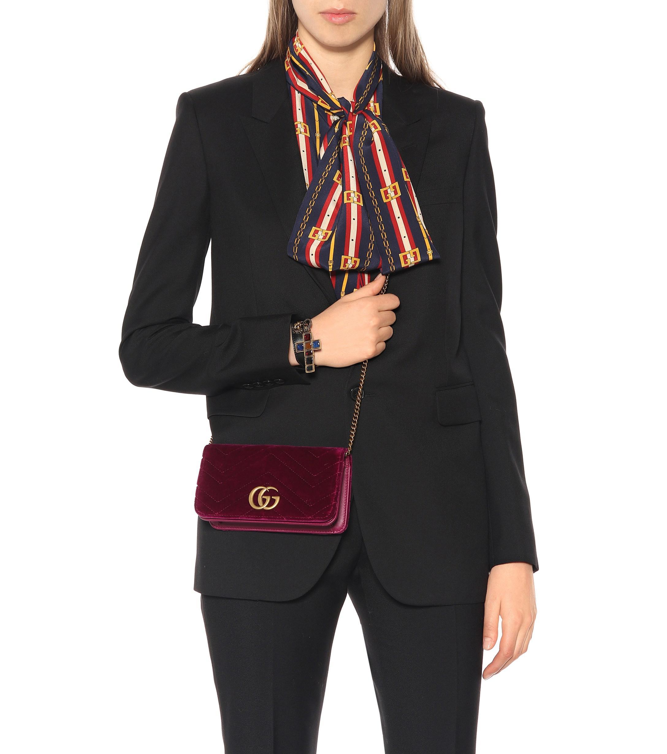 db5717e874d Lyst - Gucci GG Marmont Super Mini Shoulder Bag