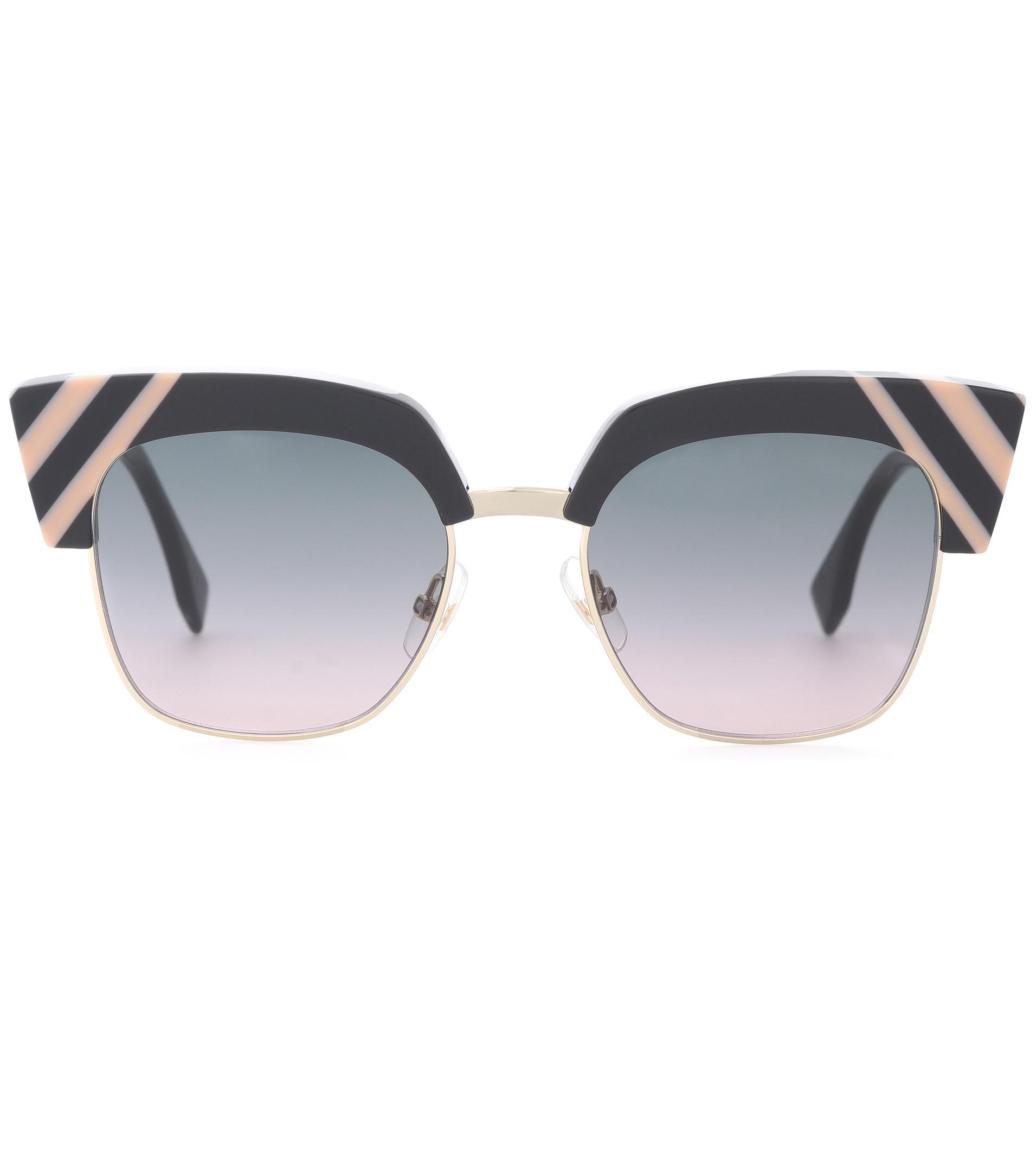 8c5517fc90 Lyst - Fendi Waves Sunglasses in Black