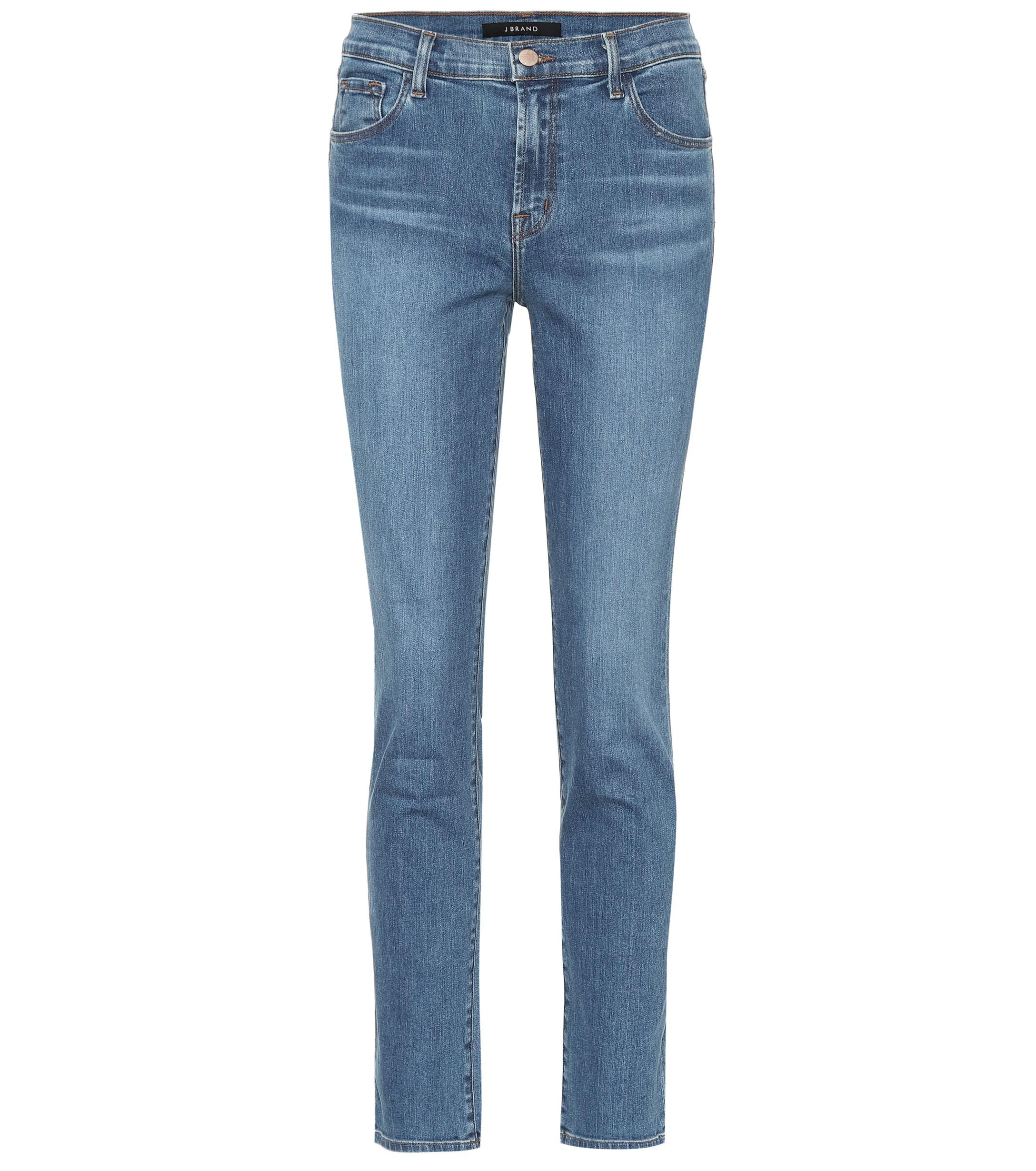 52aeb0f0d33c J Brand - Blue Ruby Cropped High-rise Jeans - Lyst. View fullscreen