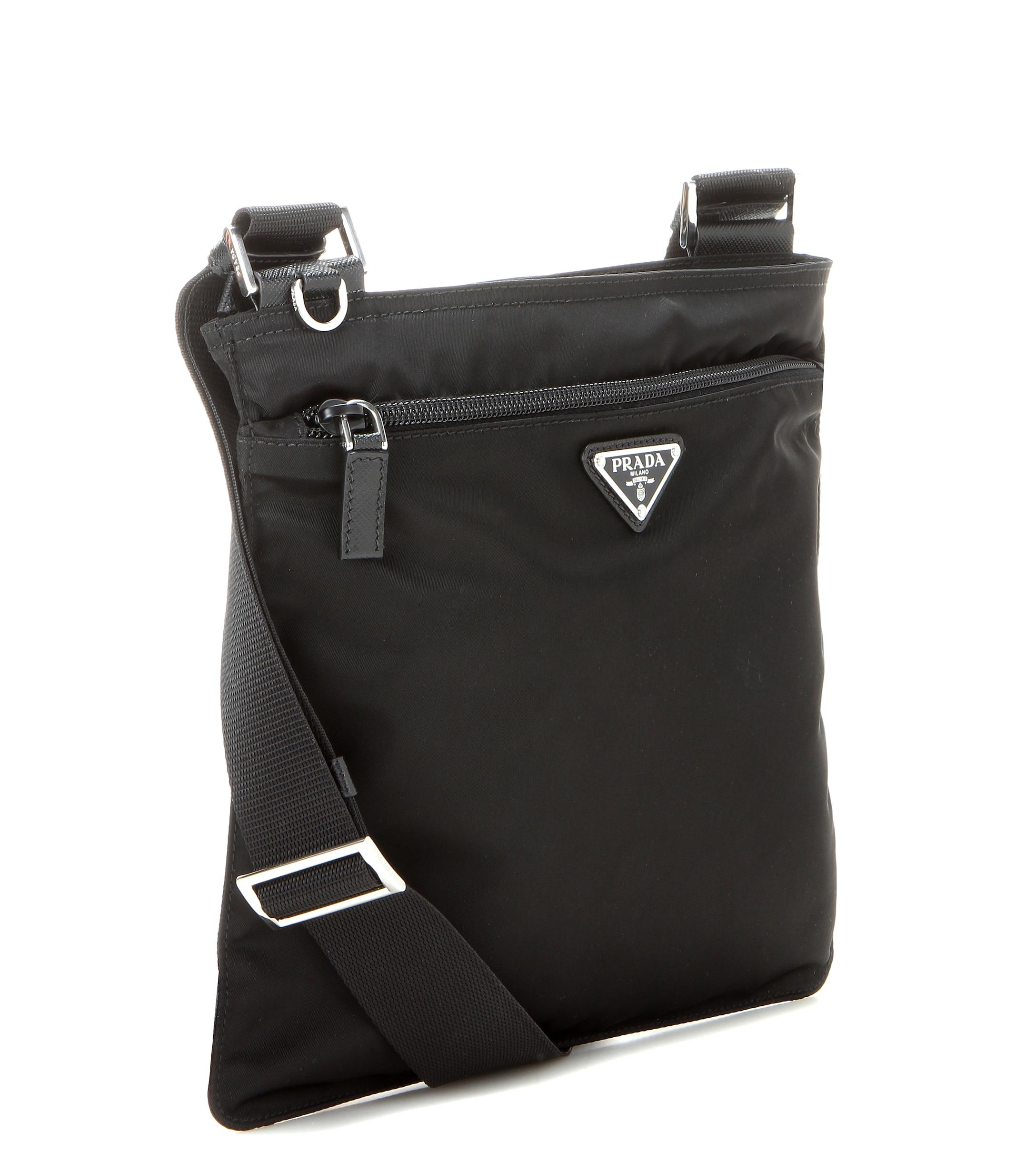 Lyst - Prada Twill Crossbody Bag in Black ad86b6aa547bf