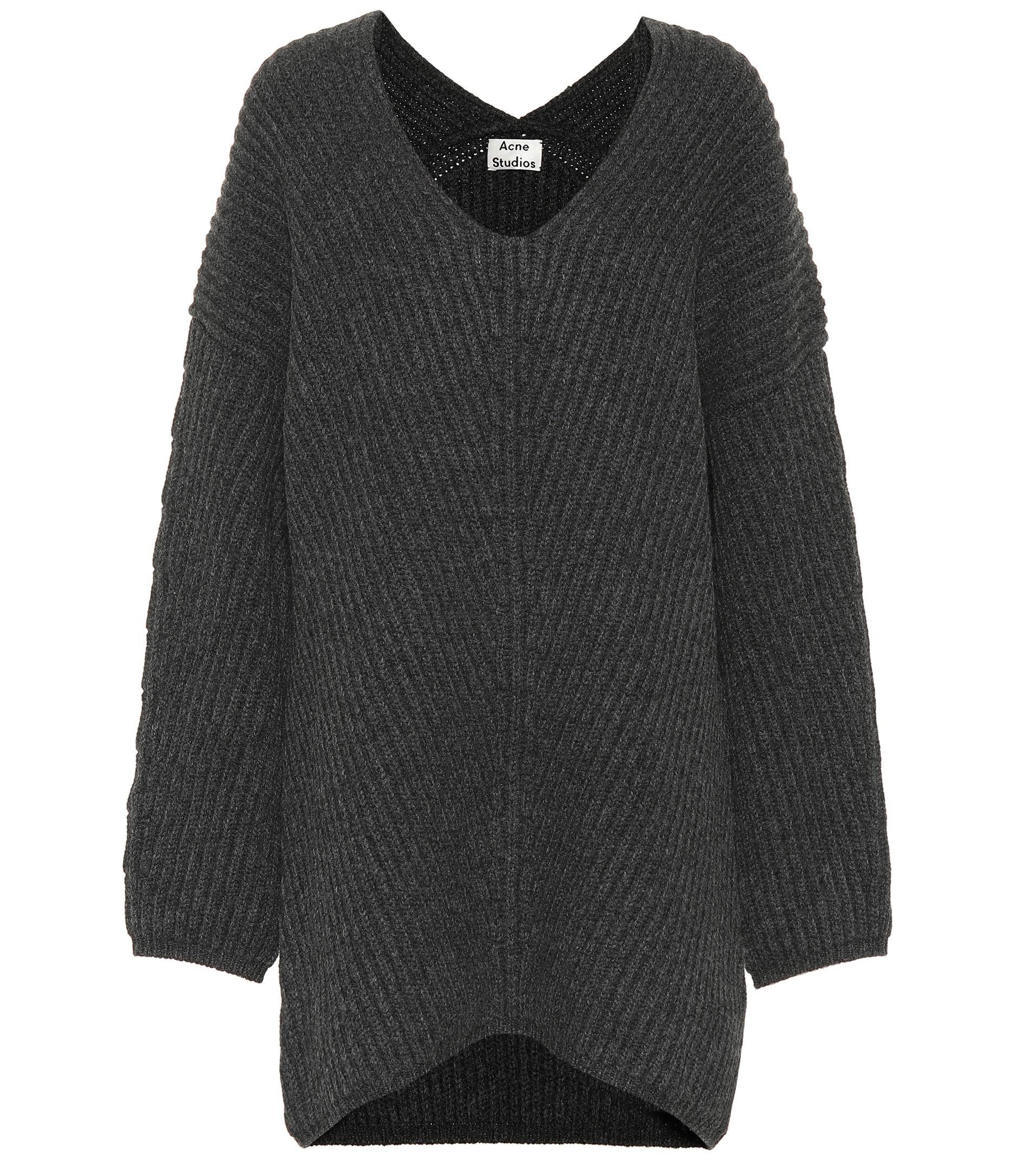 28bc660a71c7 Lyst - Acne Studios Deka Clean Wool Sweater in Gray