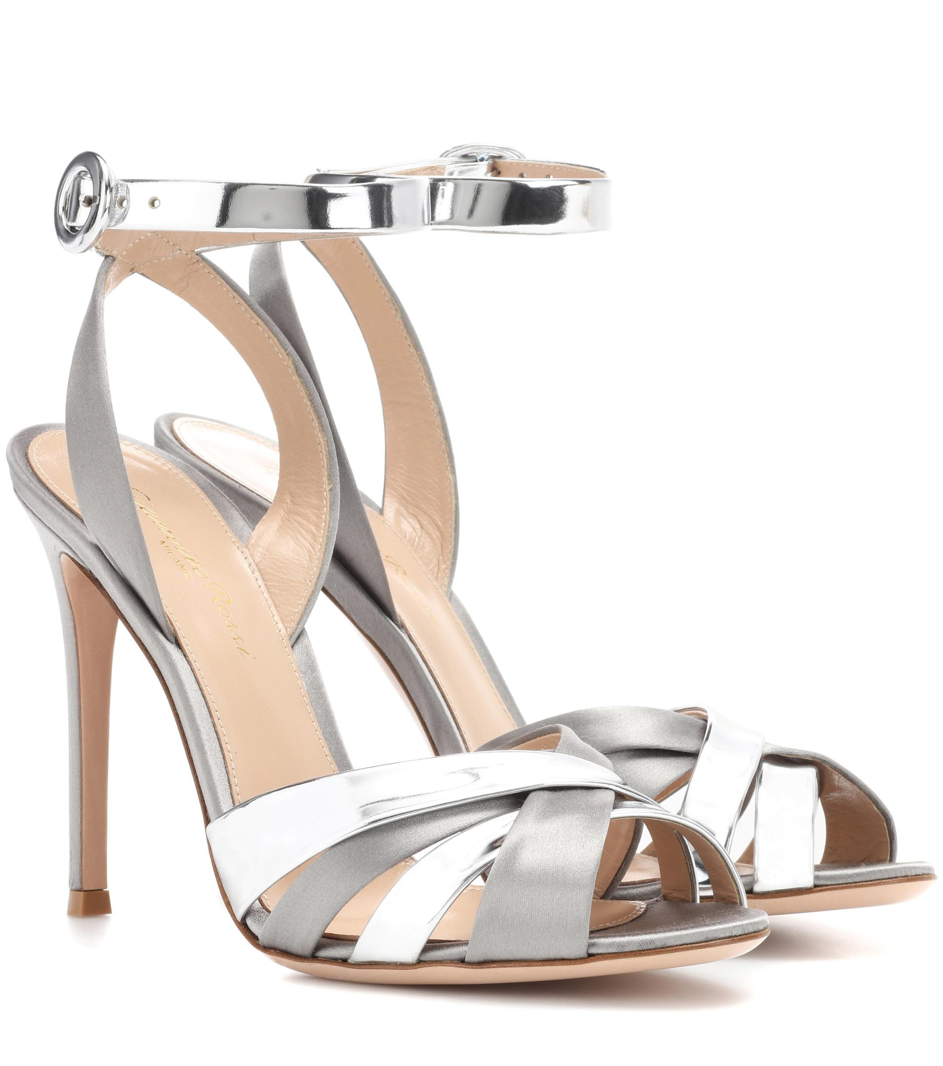 Gianvito Rossi Multistrap Wedge Sandals cheap finishline Cheapest for sale clearance finishline 4TnAKg2