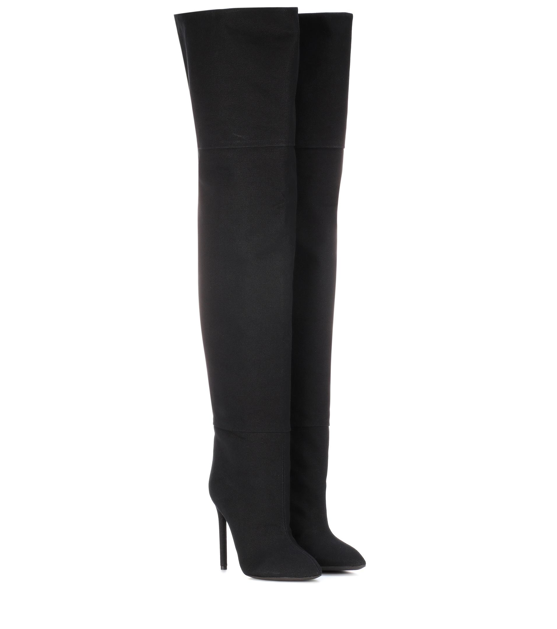 Yeezy Over-the-knee canvas boots (SEASON 4)