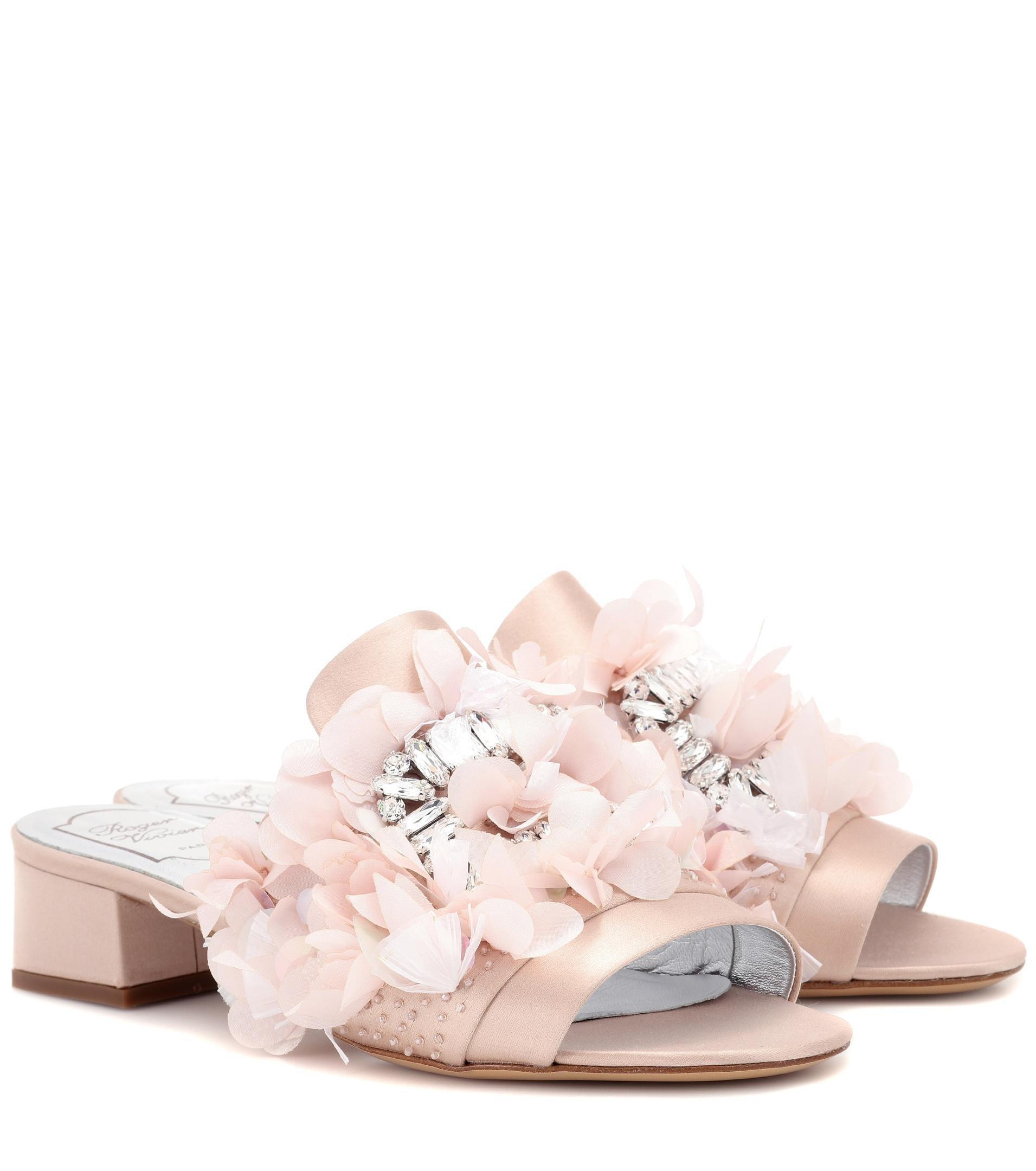 Roger VivierRabat Petals crystal-embellished sandals gXVqRirLR5