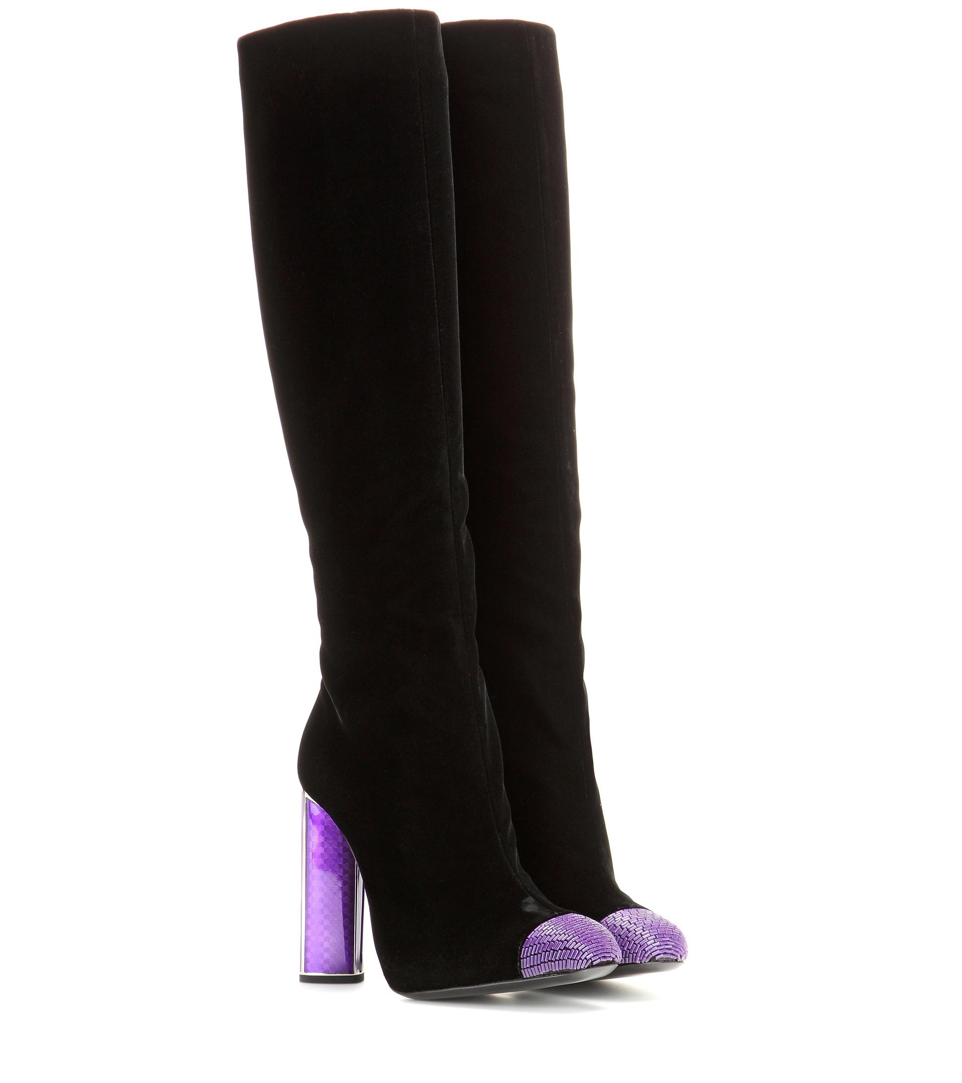 cheap sale latest Tom Ford Velvet Peep-Toe Knee-High Boots w/ Tags discount wide range of official site cheap online 7PdvogMOf