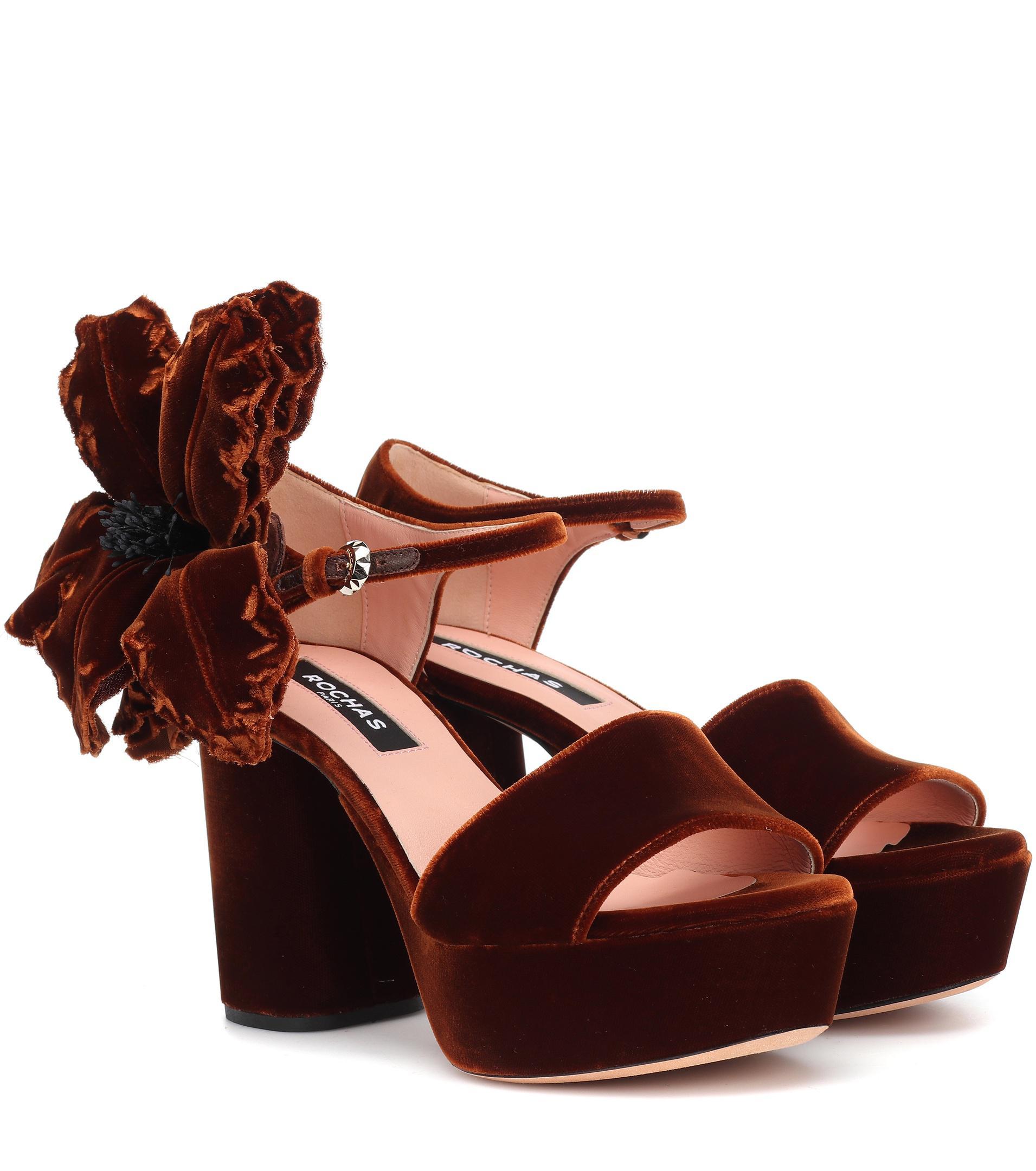 Rochas Velvet plateau sandals cypAxq6N4