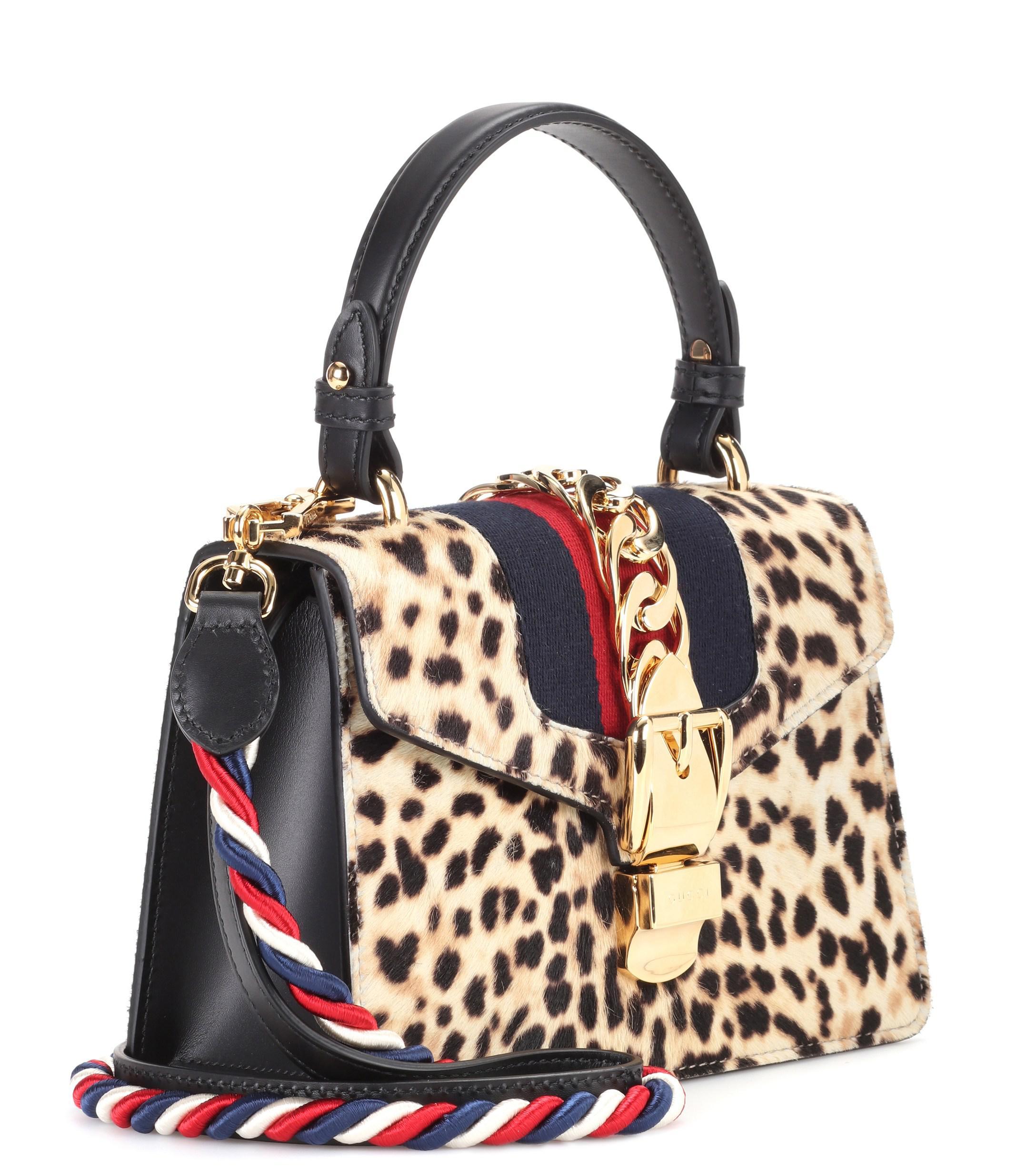 a267ca8548b4 Lyst - Gucci Sylvie Mini Calf Hair Shoulder Bag