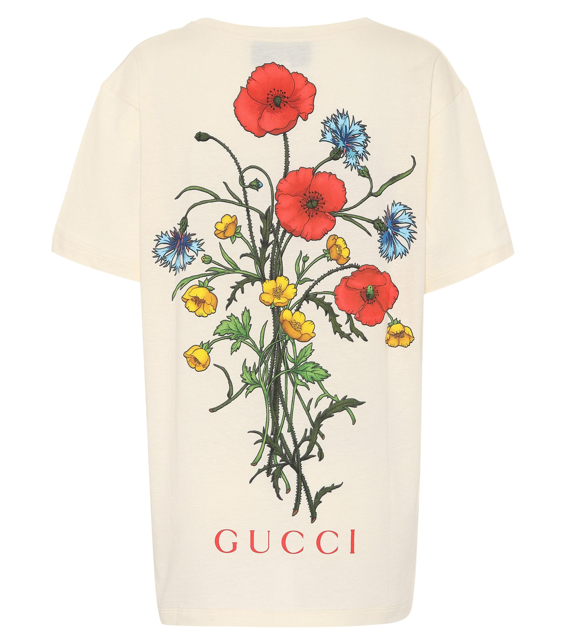 aadc1e3f4d3 Gucci - Multicolor Chateau Marmont Cotton T-shirt - Lyst. View fullscreen