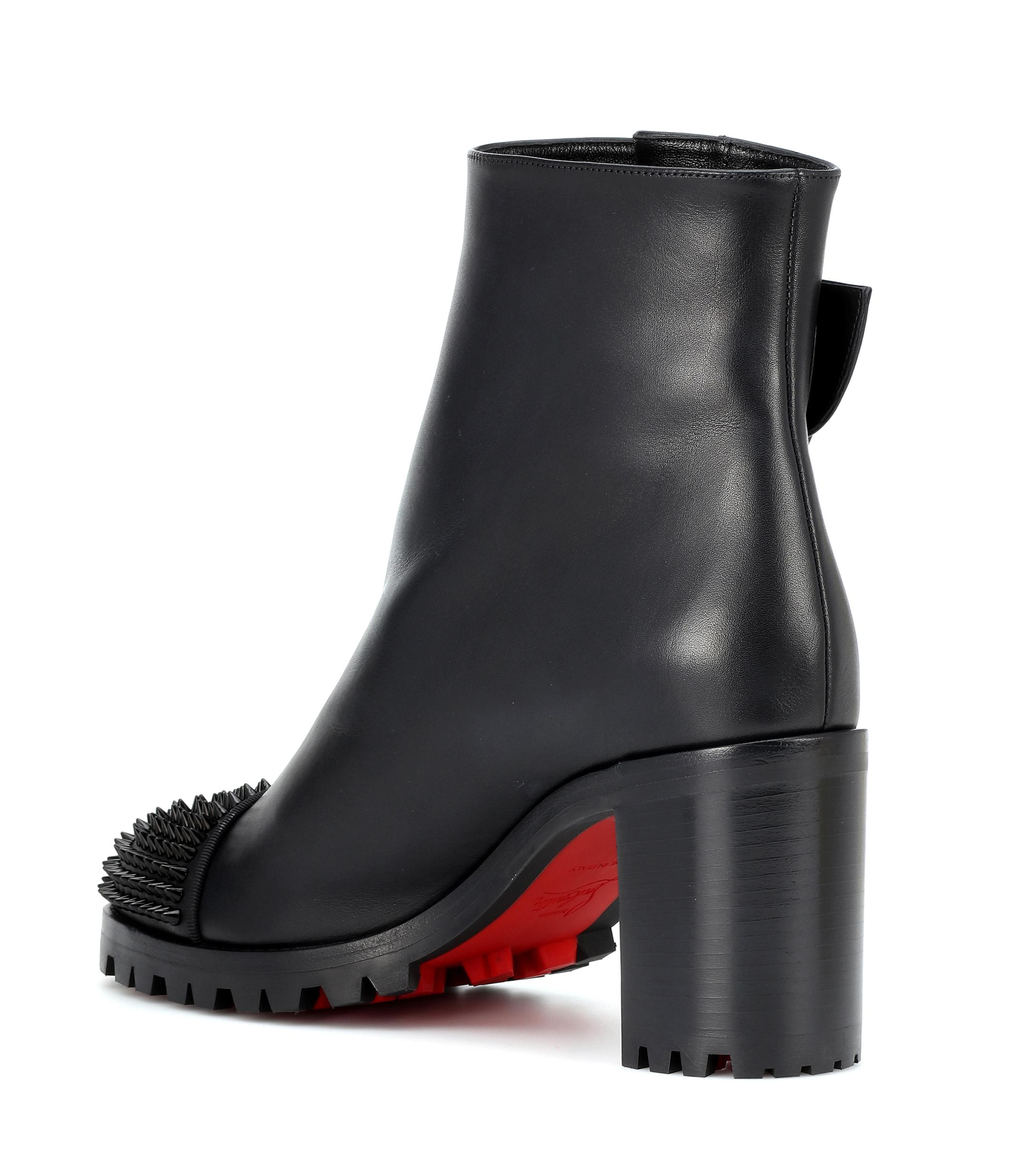 17d471ba4b9 Christian Louboutin - Black Olivia Snow 70 Leather Ankle Boots - Lyst. View  fullscreen