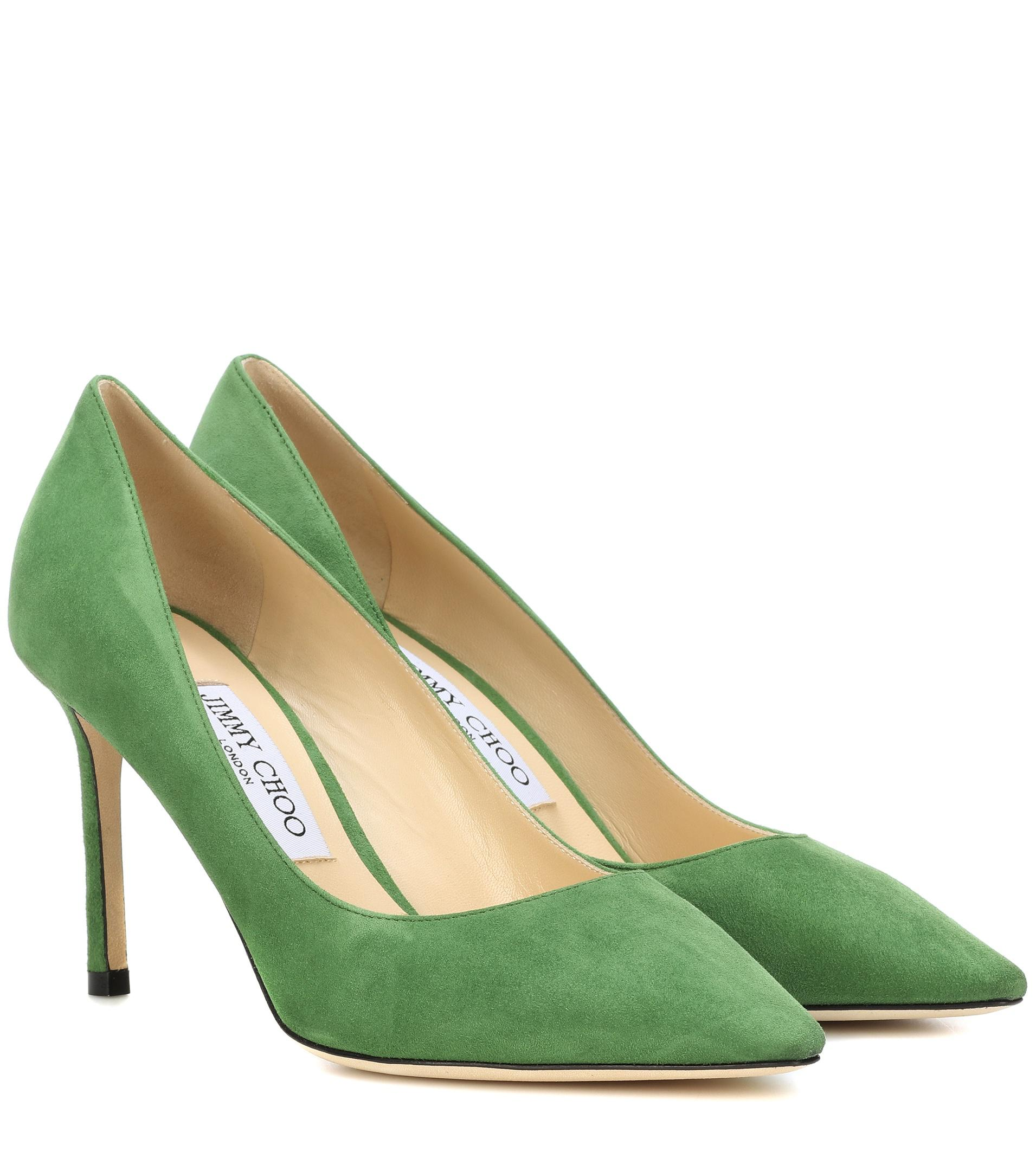 Romy 85 pumps - Green Jimmy Choo London ld4Fh1r5j2