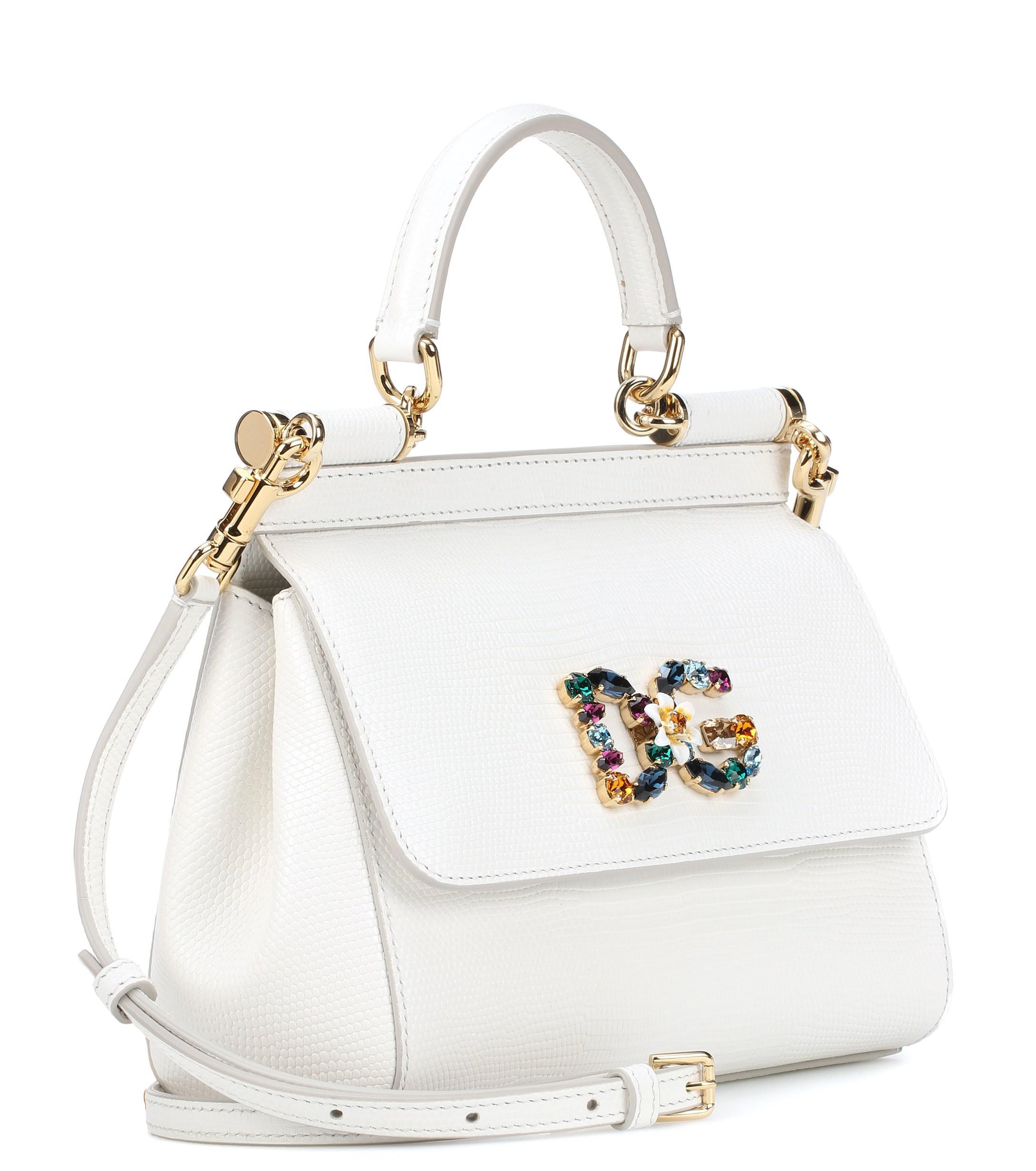 1ff53ff2e7f Leather Shoulder Bag - Lyst. View fullscreen. Dolce & Gabbana ...
