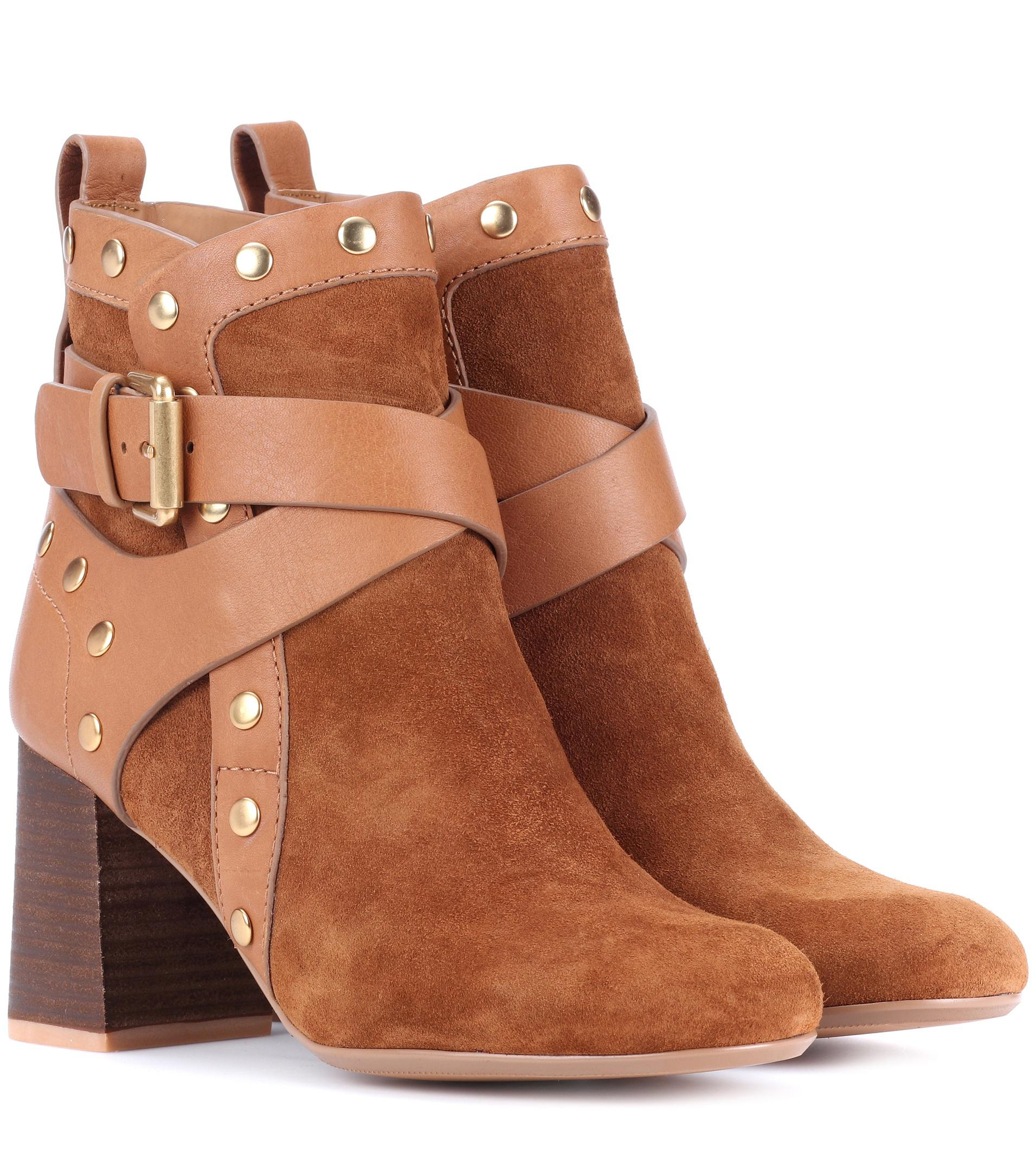 Chloé 40MM SUEDE ANKLE BOOTS Wholesale Quality Official Cheap Online Perfect Online Very Cheap Online X2KZ5
