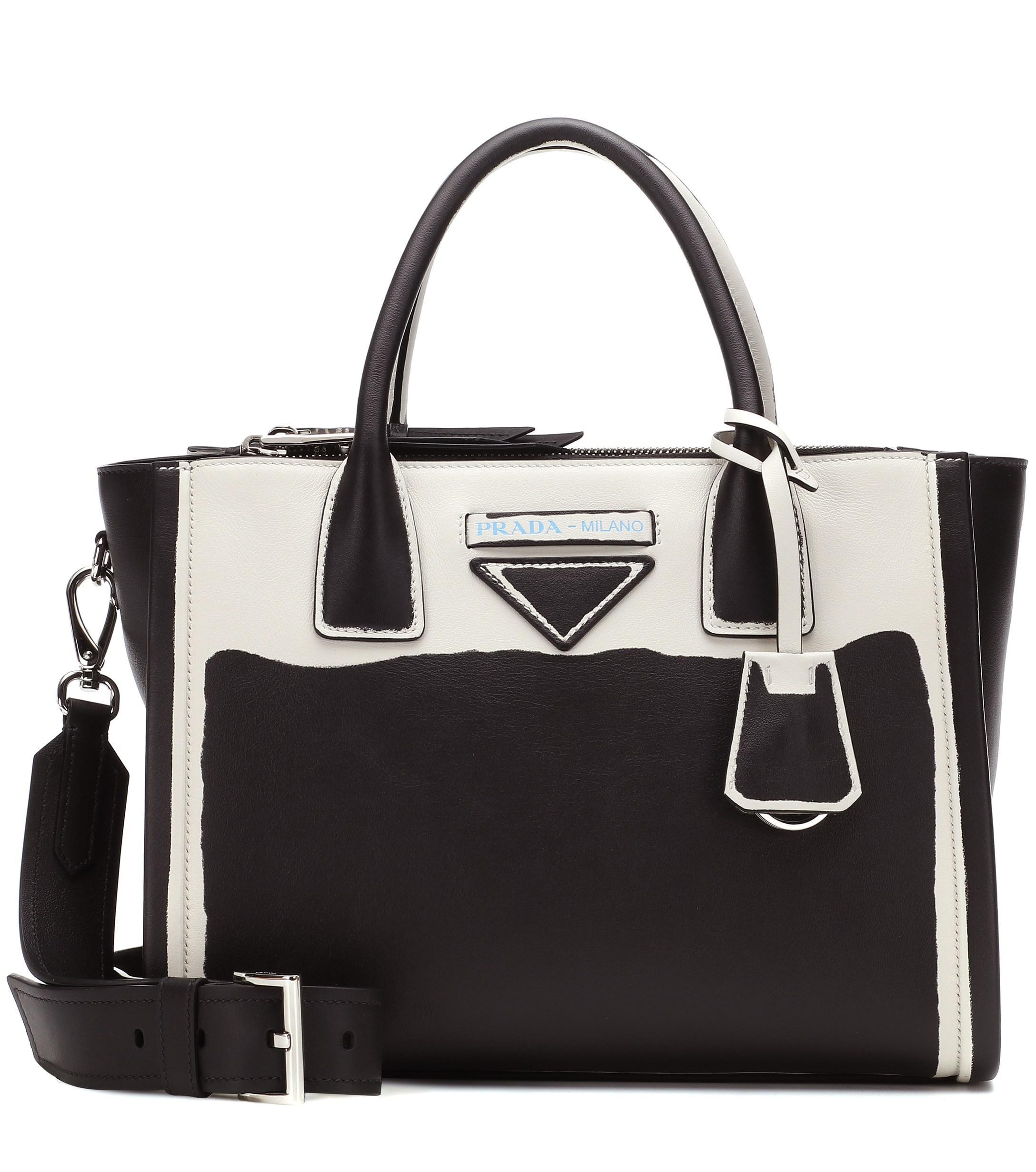 3424dab22a Lyst - Prada Concept Galleria Leather Tote in Black