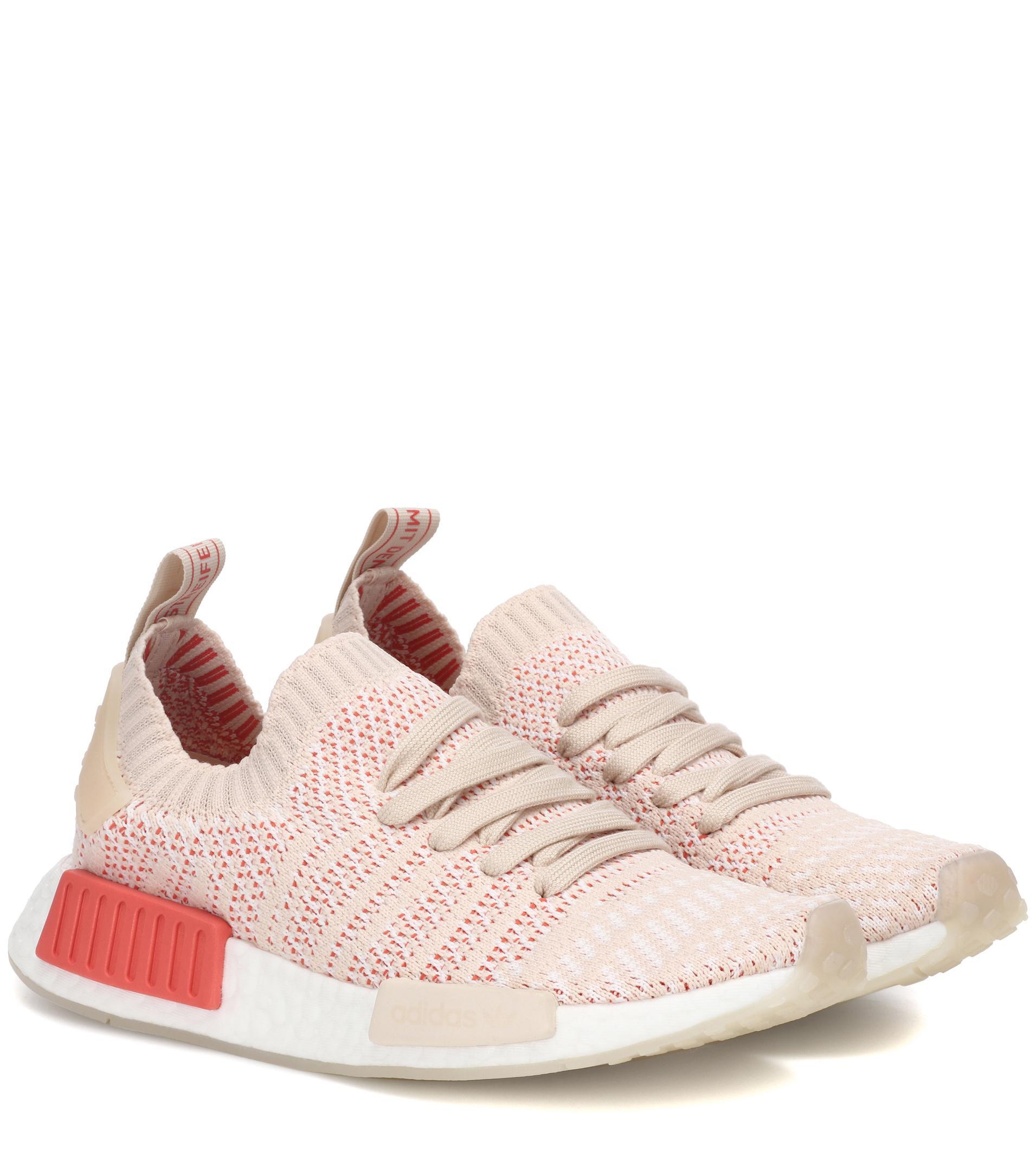 Lyst adidas Originals NMD R1 stlt primeknit zapatilla en color rosa