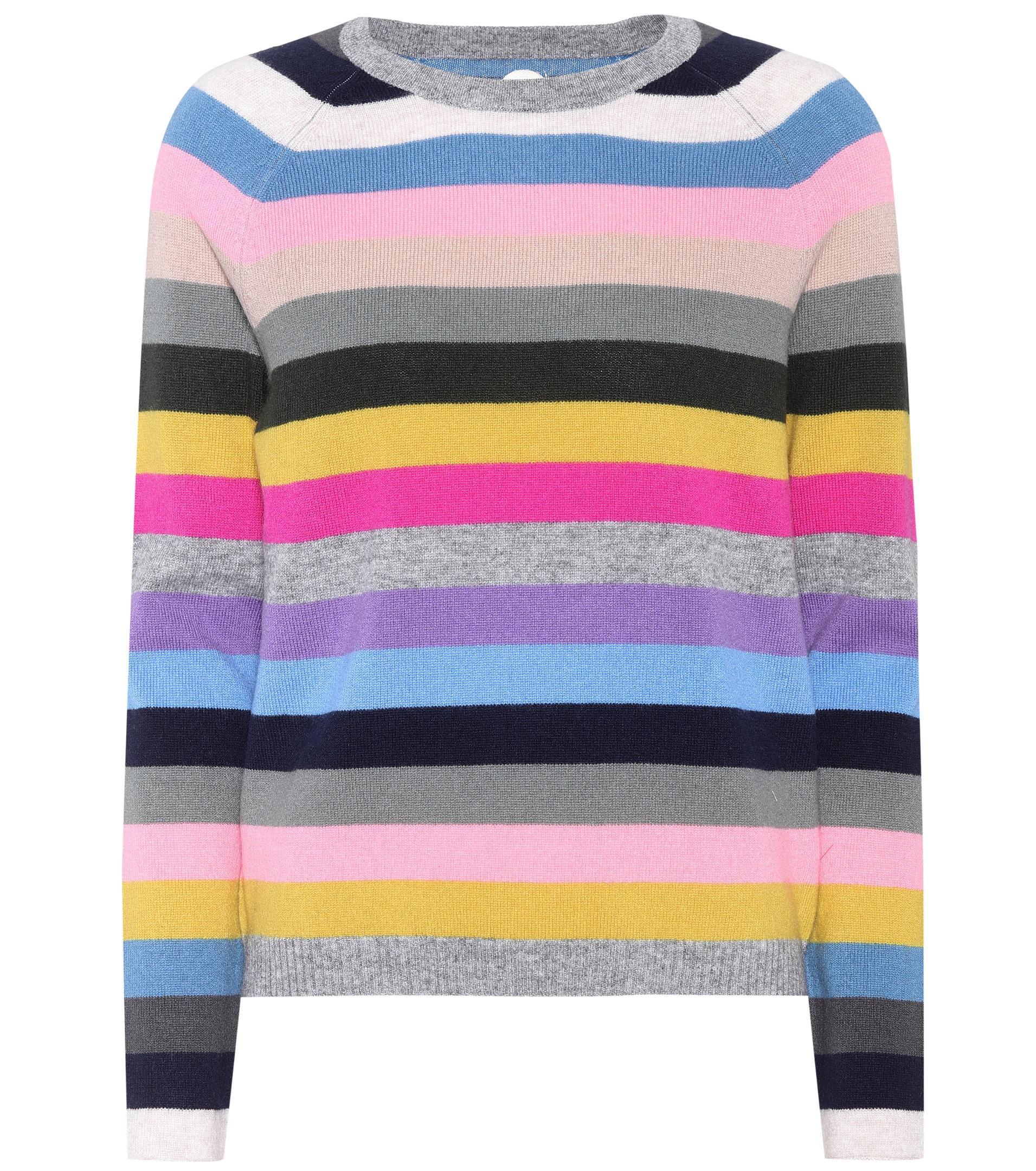 Lyst jardin des orangers striped cashmere sweater for Jardin gally 78