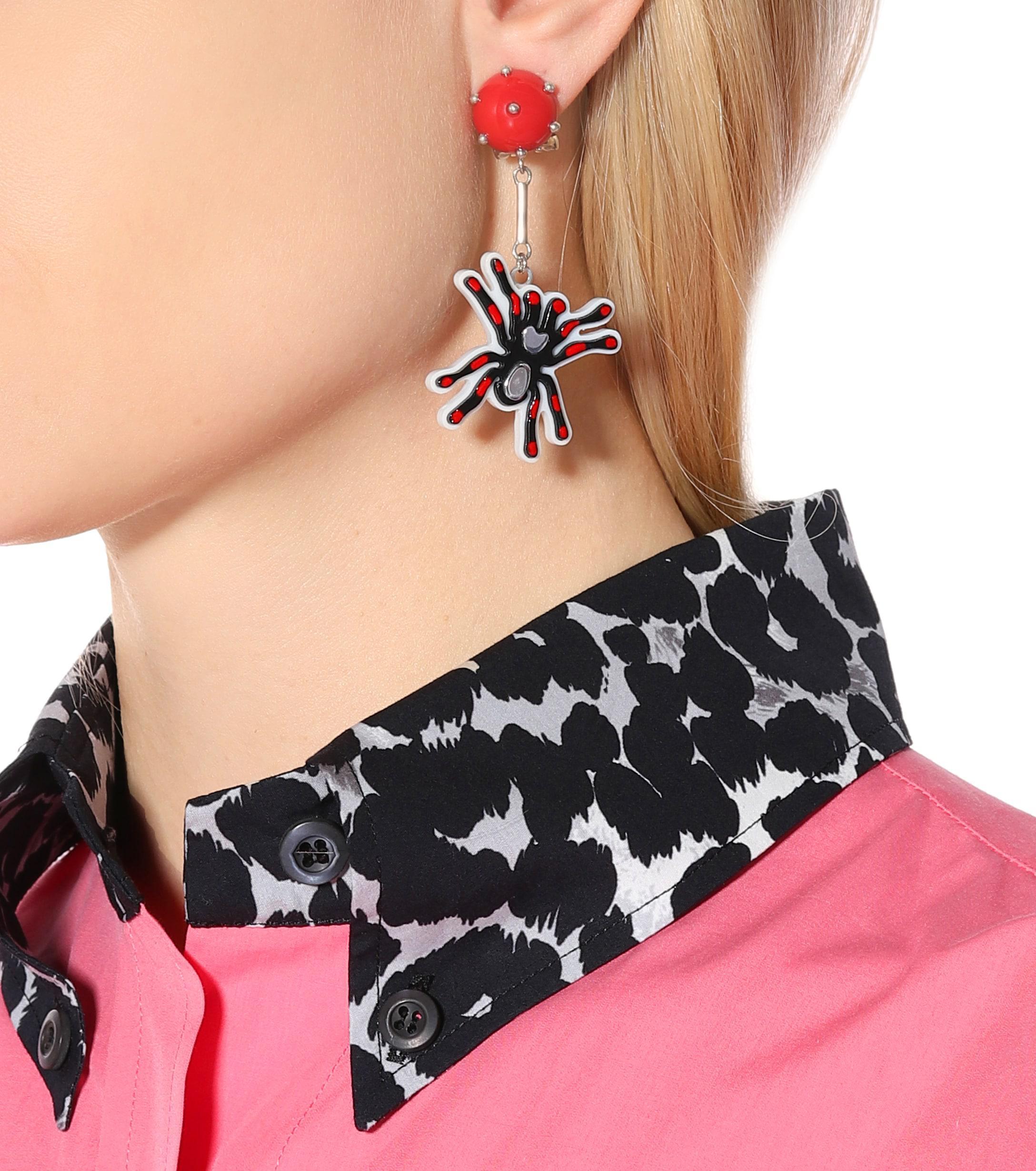 a6a14f3de Prada - Red Pop Clip-on Earrings - Lyst. View fullscreen