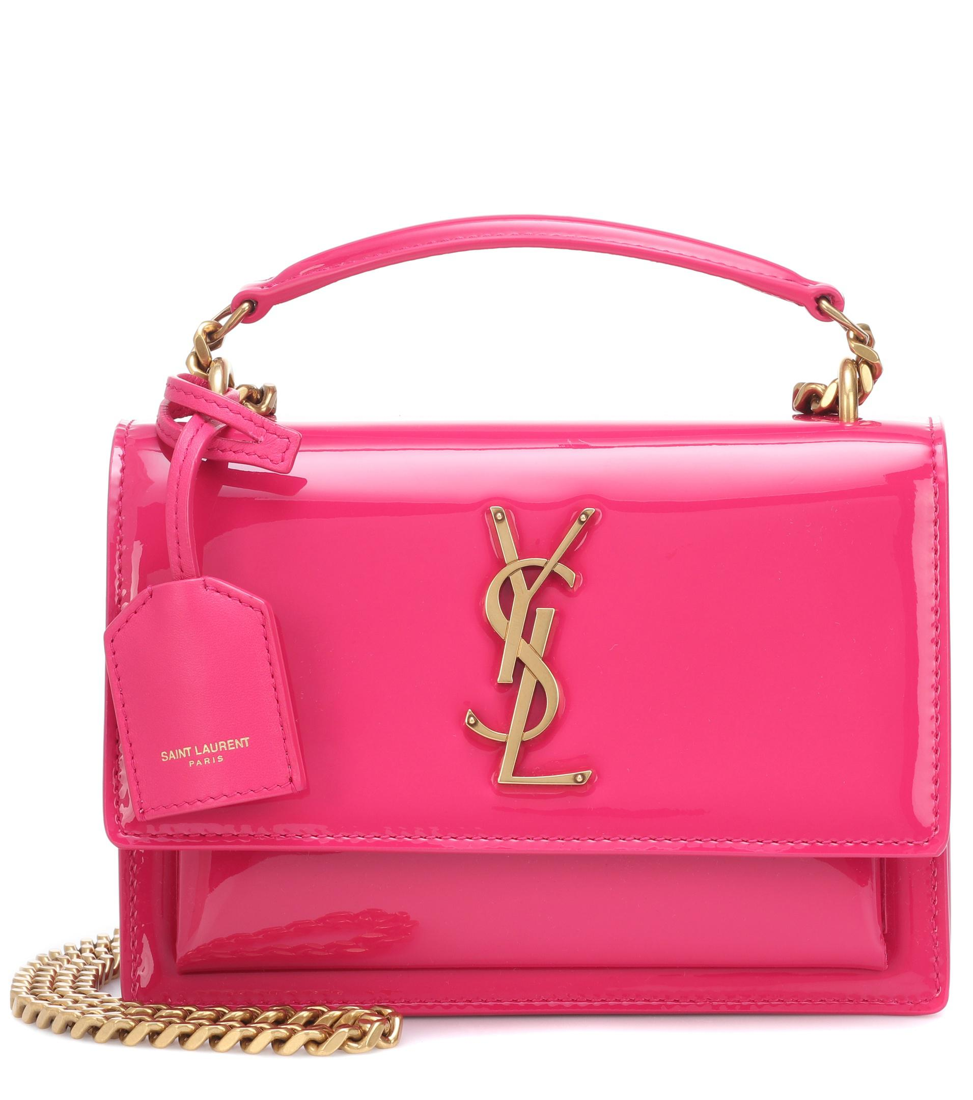 666fec1f9347 Lyst - Saint Laurent Small Sunset Monogram Shoulder Bag in Pink