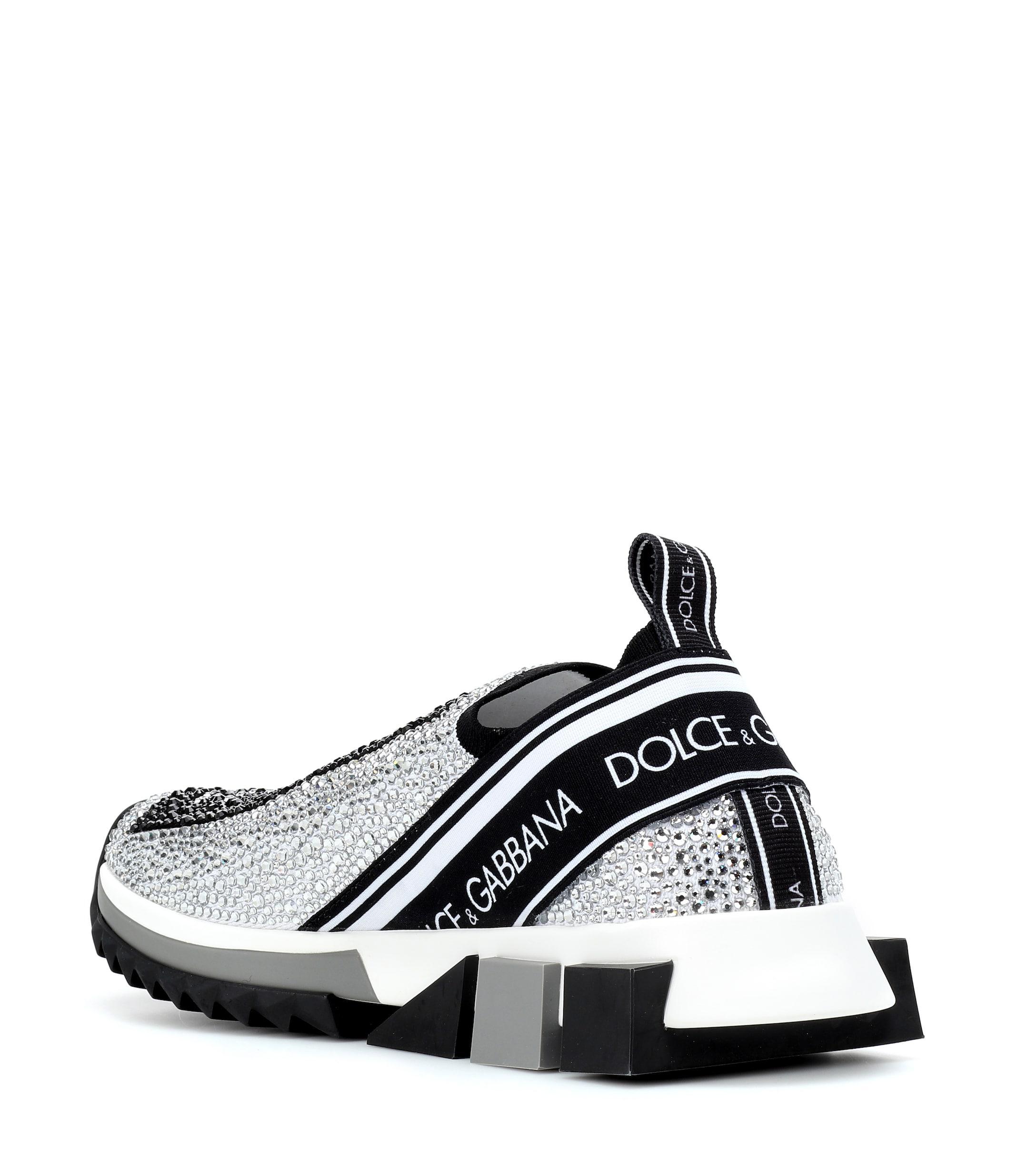 66f312642 Dolce & Gabbana - White Sorrento Embellished Sneakers - Lyst. View  fullscreen