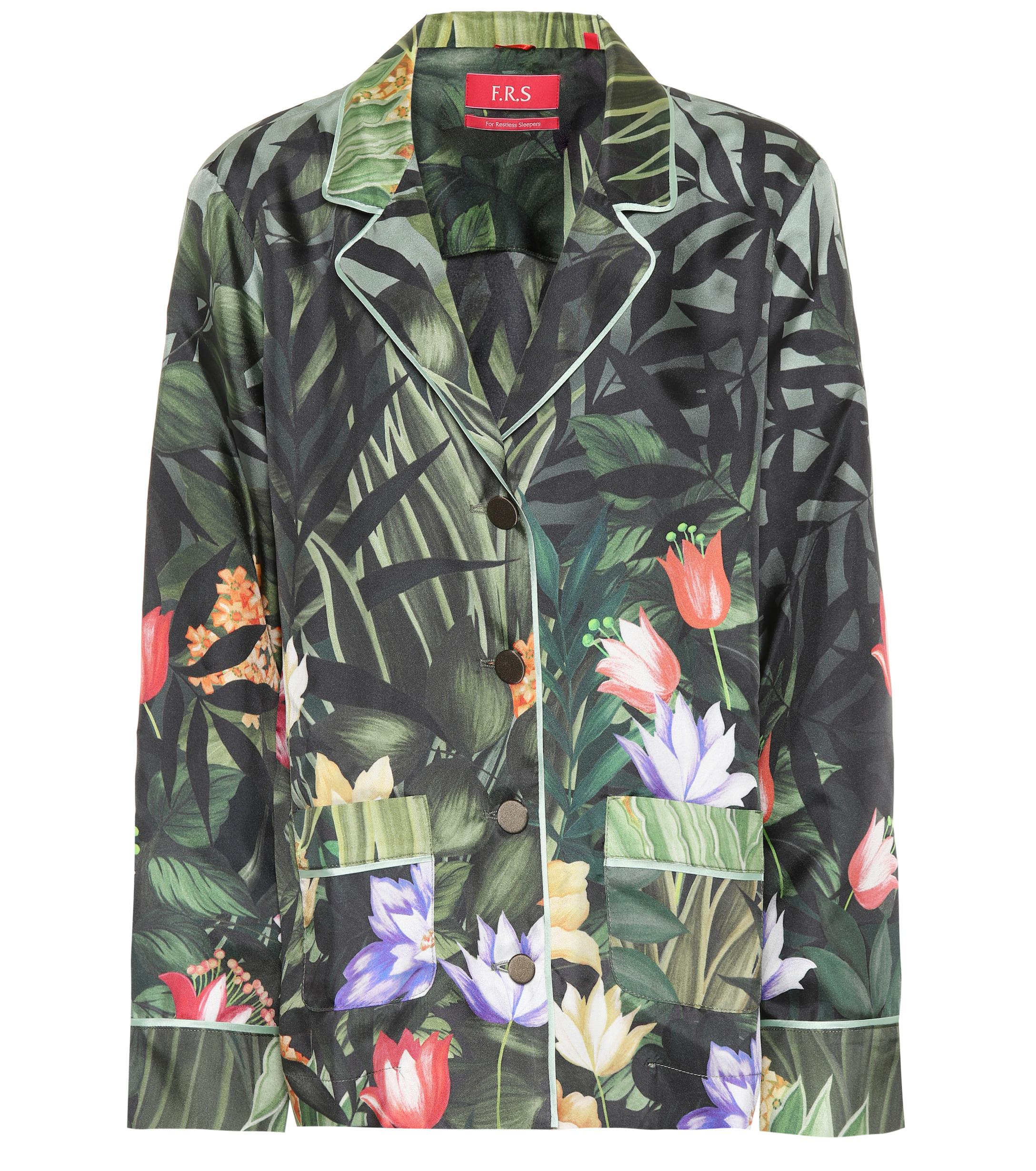 8db393633 Lyst - F.R.S For Restless Sleepers Ade Printed Silk Shirt in Green