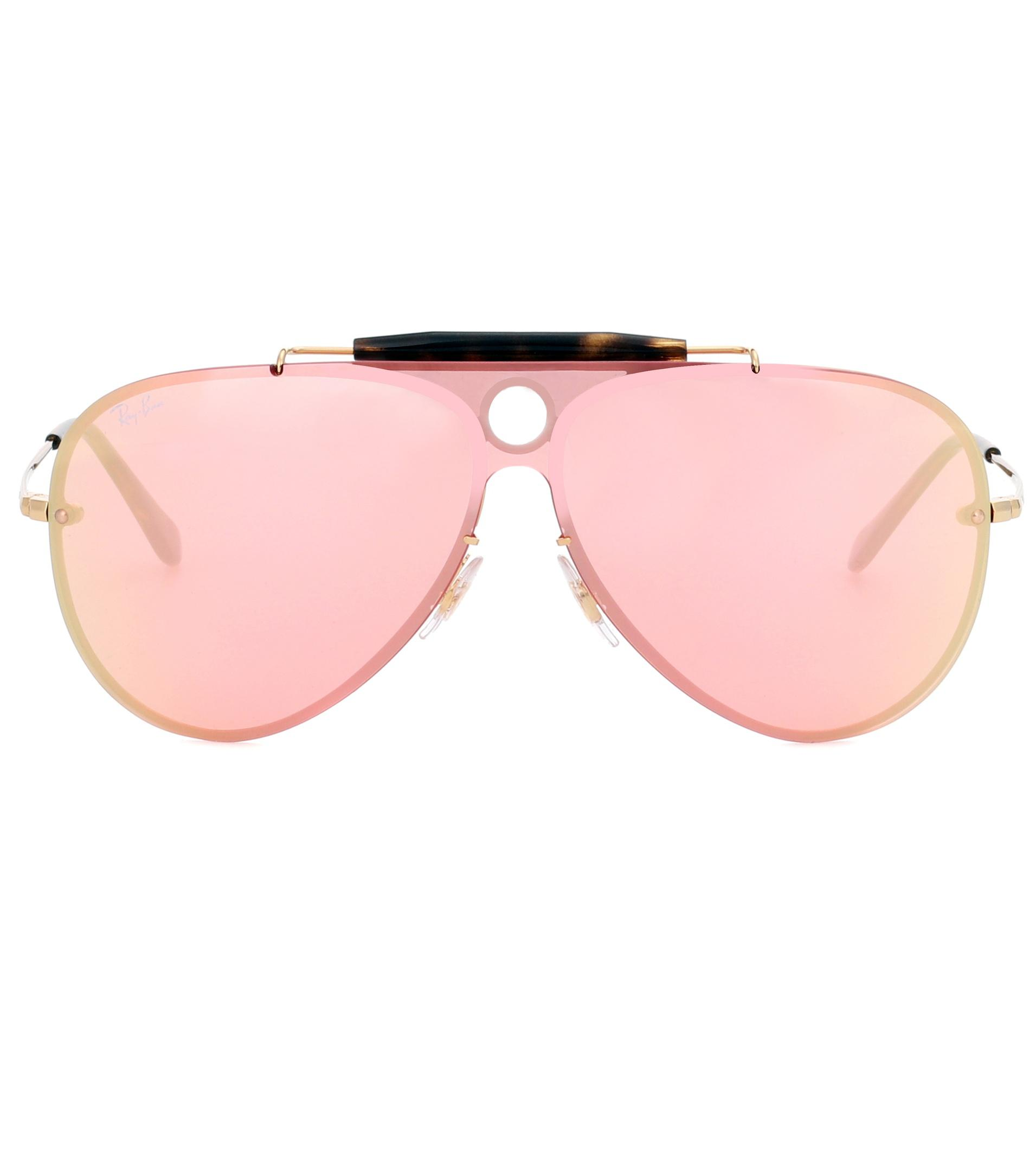 4bc057aaf1f44 Lyst - Ray-Ban Rb3581 Blaze Shooter Sunglasses in Pink