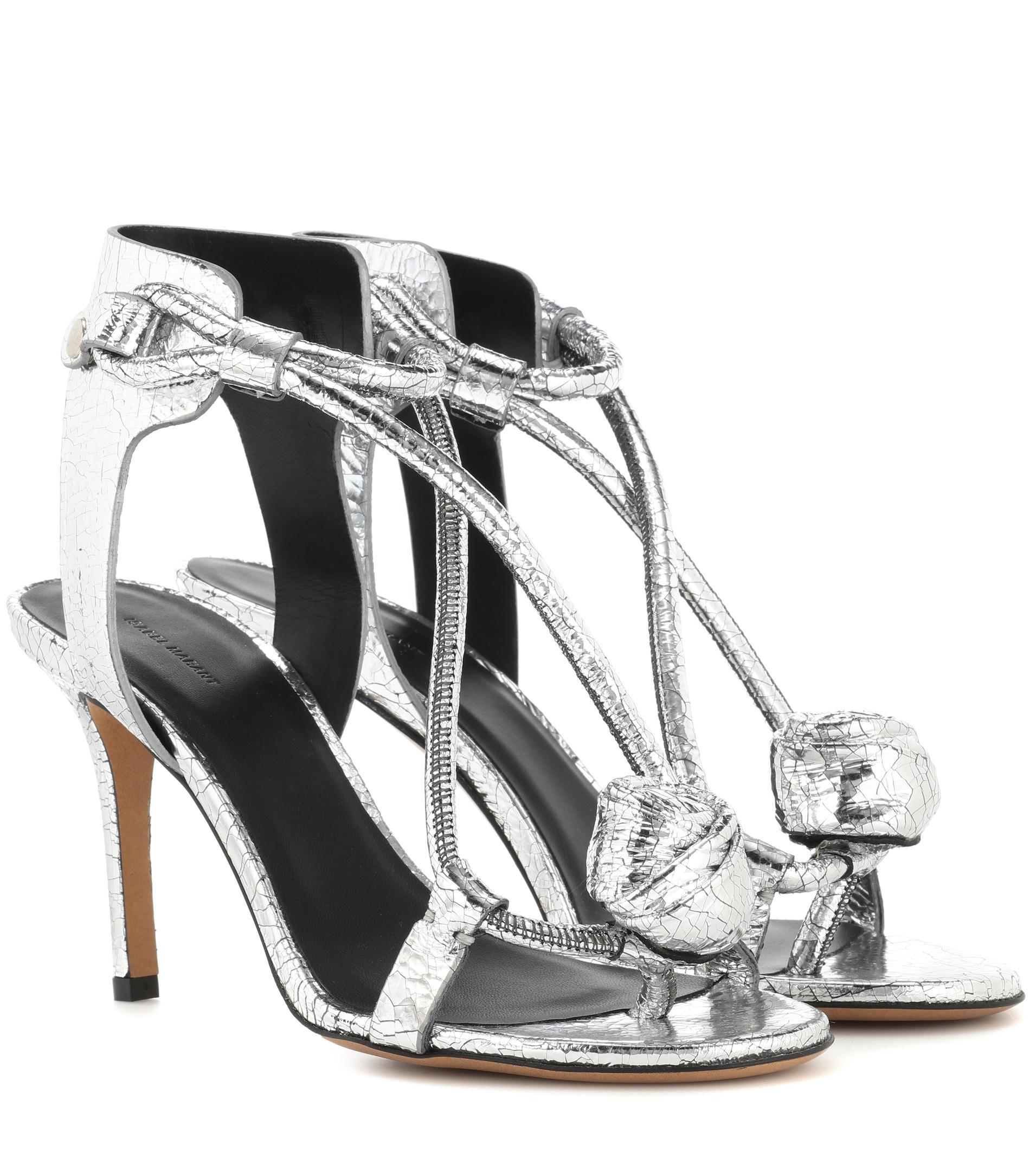 Womens Ablee Metallic Leather Sandals Isabel Marant Best Seller Cheap Online ZGnsh0X