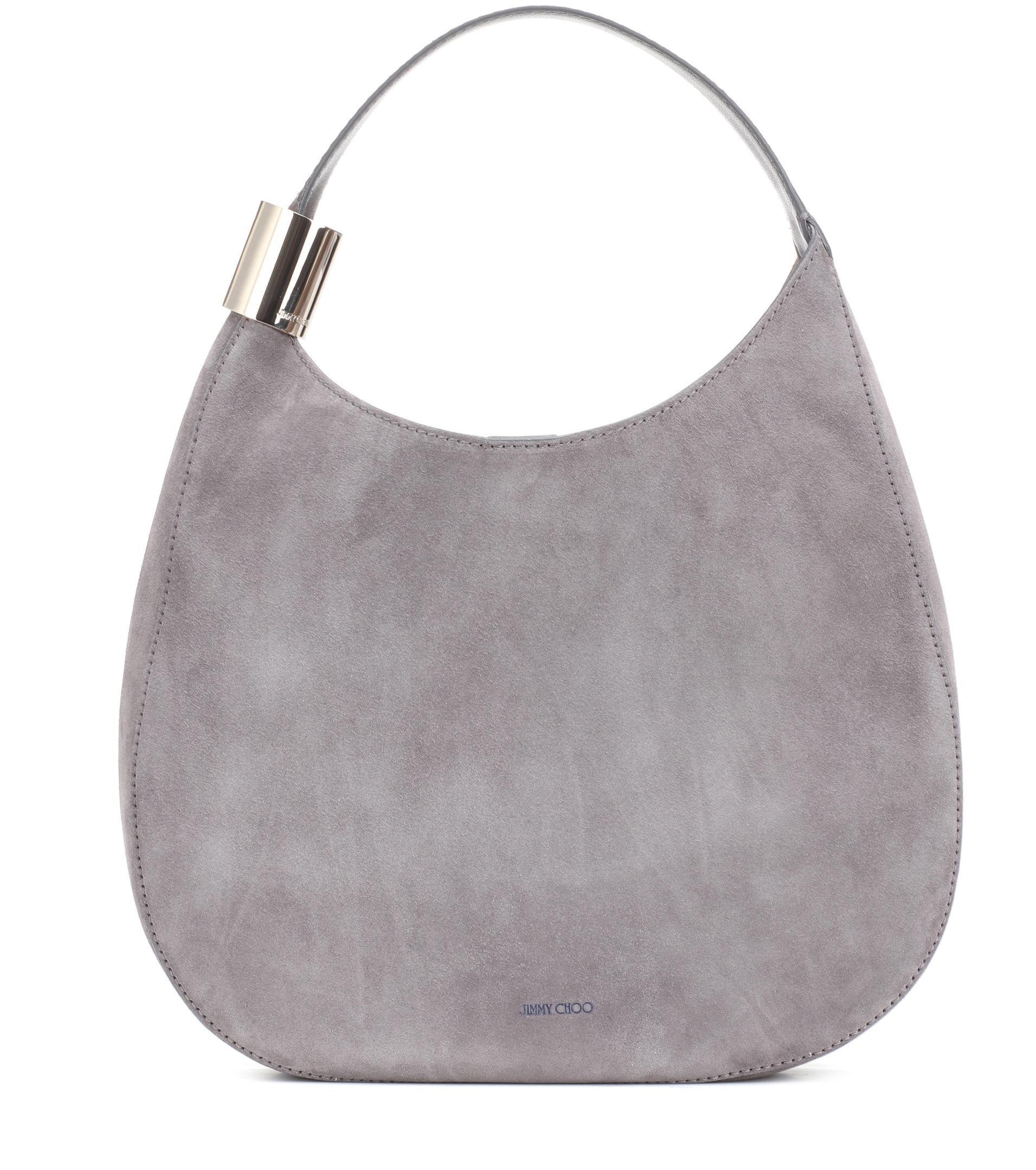49b4835d728 Lyst - Jimmy Choo Stevie Suede Shoulder Bag in Gray