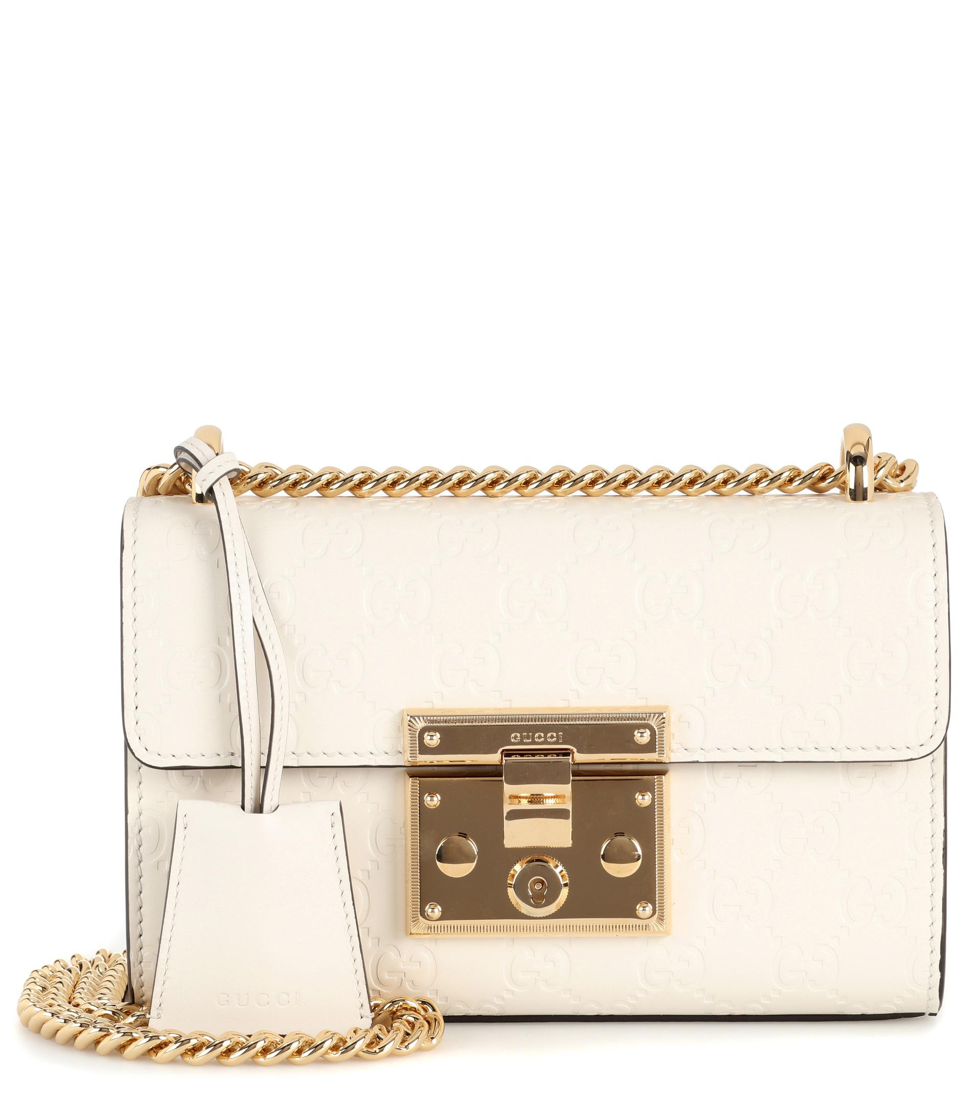 7c215c3d016507 Gucci Padlock Small Leather Shoulder Bag in White - Lyst
