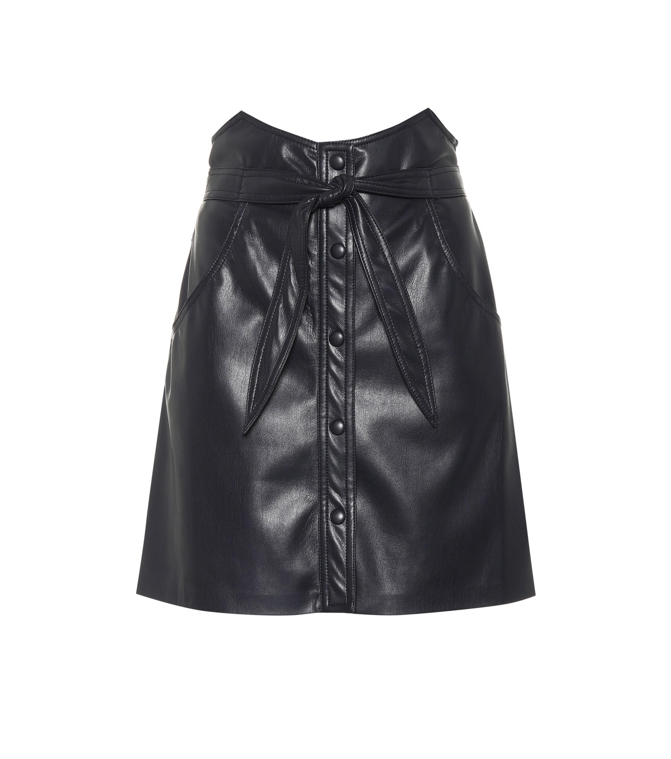 0add163a91 Nanushka Chai Faux Leather Miniskirt in Blue - Lyst