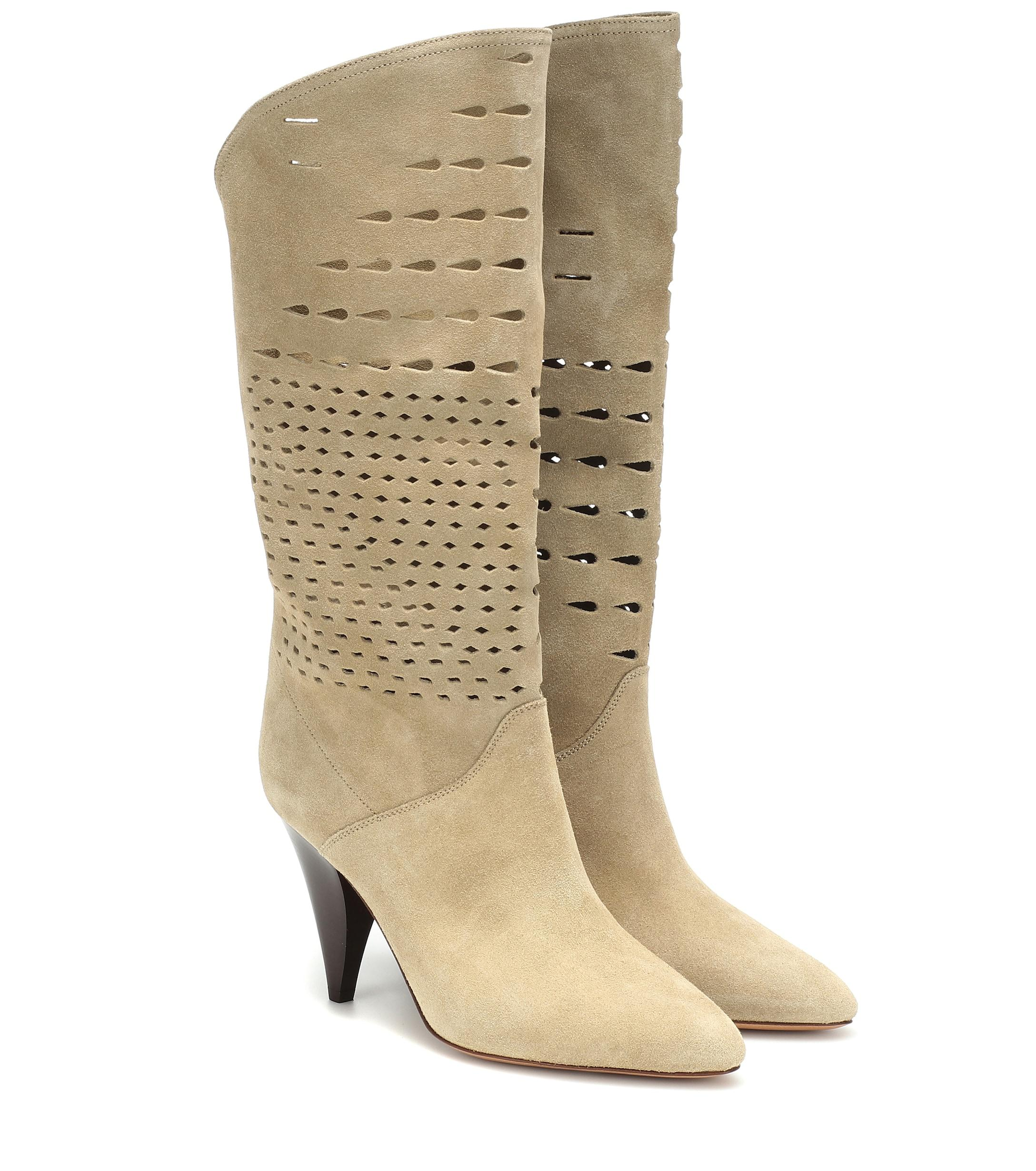 291a1797b2a Lyst - Isabel Marant Lurrey Suede Boots in Natural