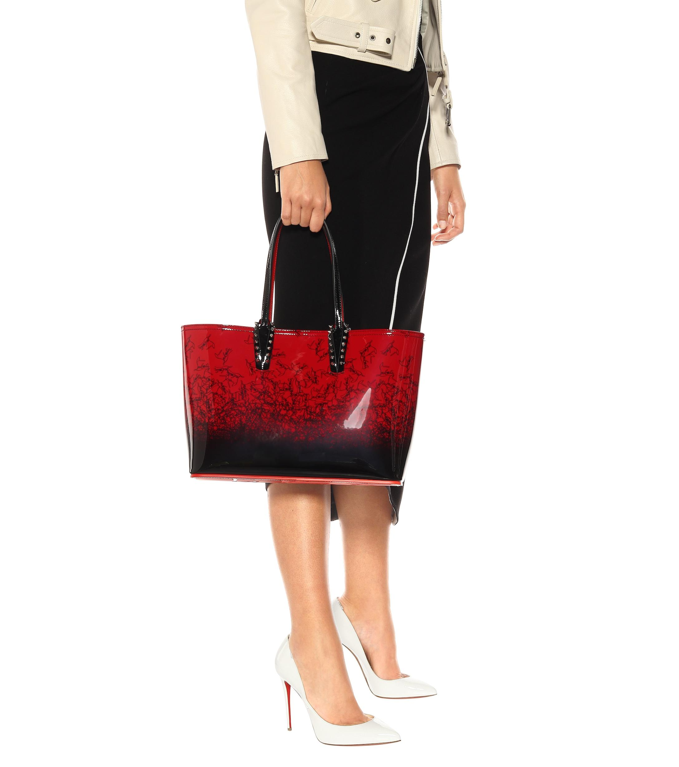 1995e51eee32 Christian Louboutin - Red Cabata Small Patent Leather Tote - Lyst. View  fullscreen