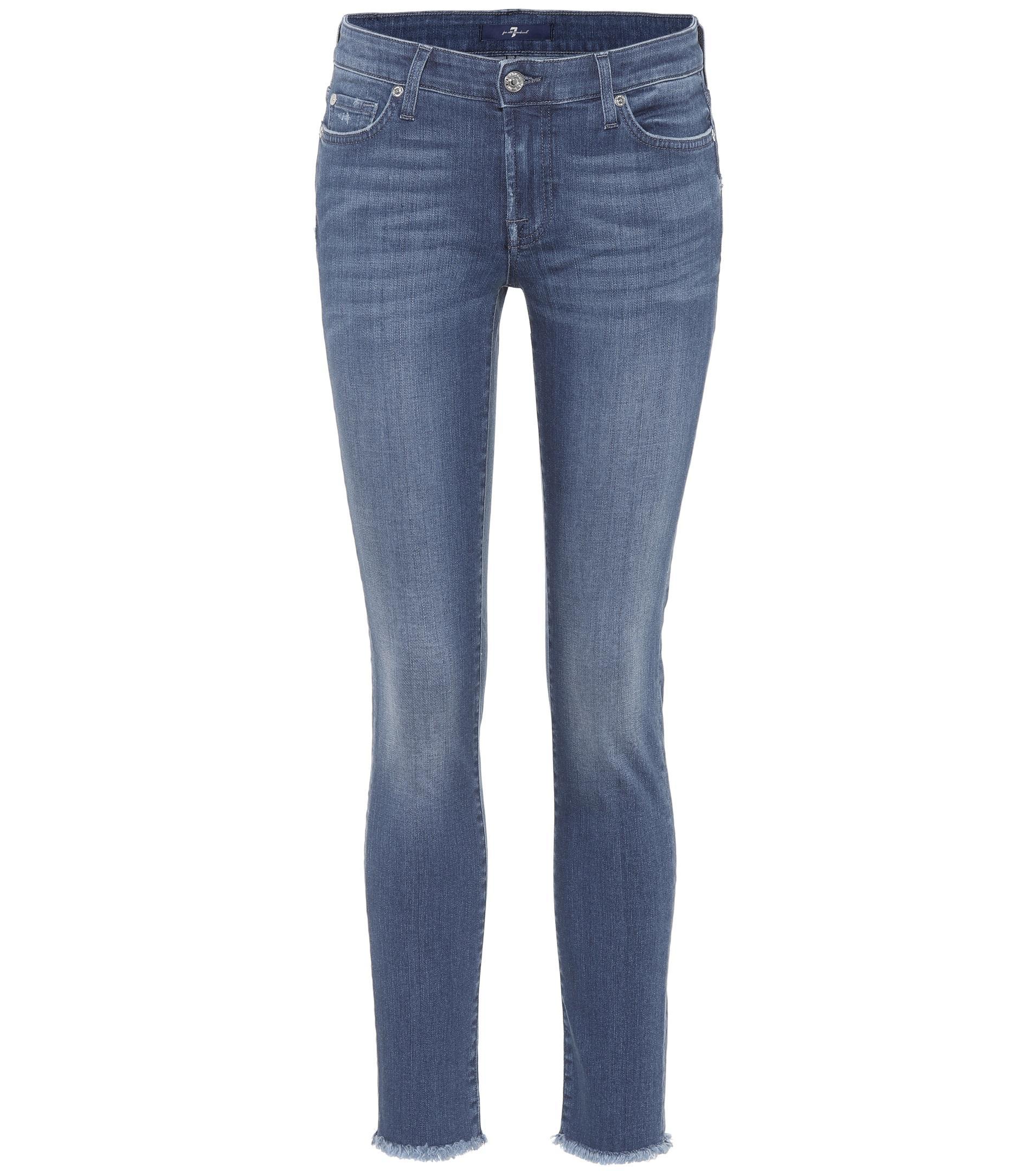 Pyper Recadrée Jeans - Bleu 7 Pour Toute L'humanité EfeiOda