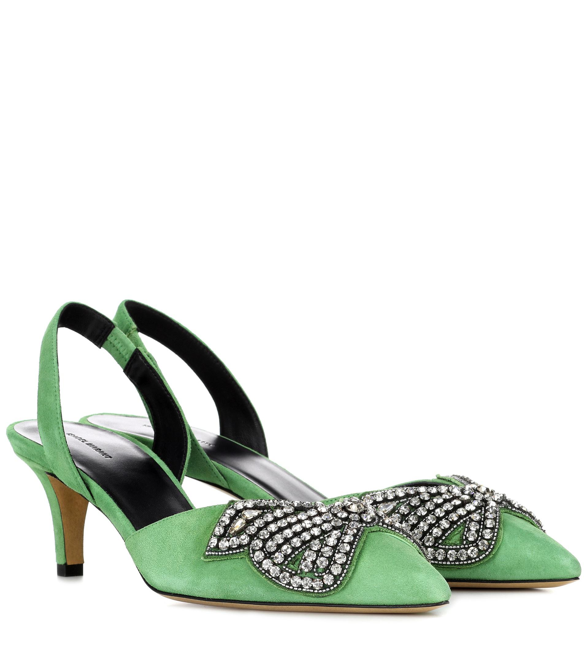 6a688598b45 Isabel Marant. Women s Green Pagda Suede Slingback Court Shoes