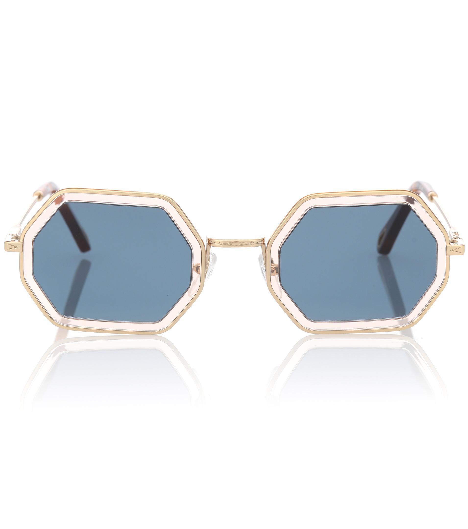 22afa6f12b5 Chloé Tally Sunglasses in Blue - Lyst