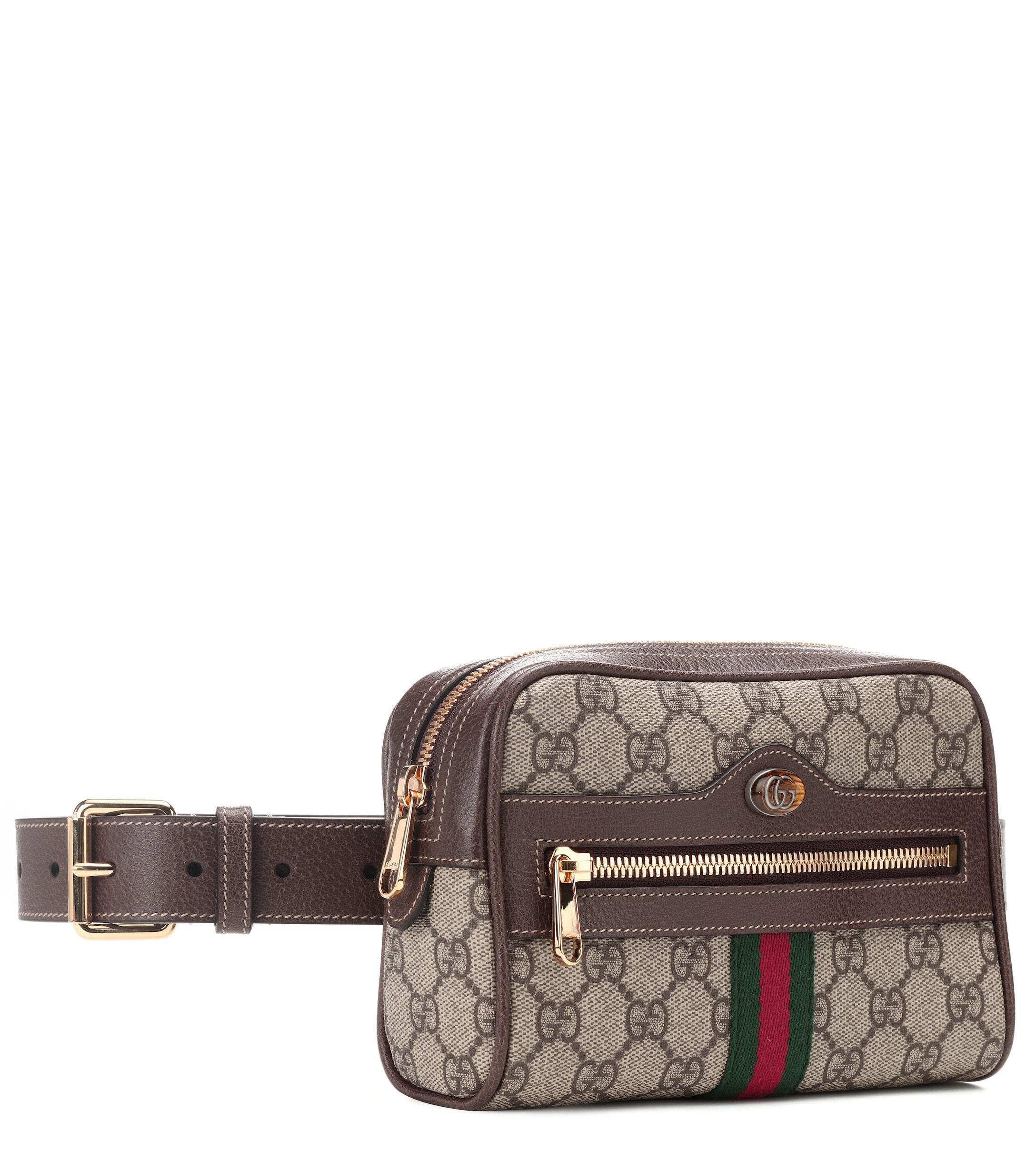 74e10295fbc7 Gucci Ophidia GG Supreme Small Belt Bag - Lyst