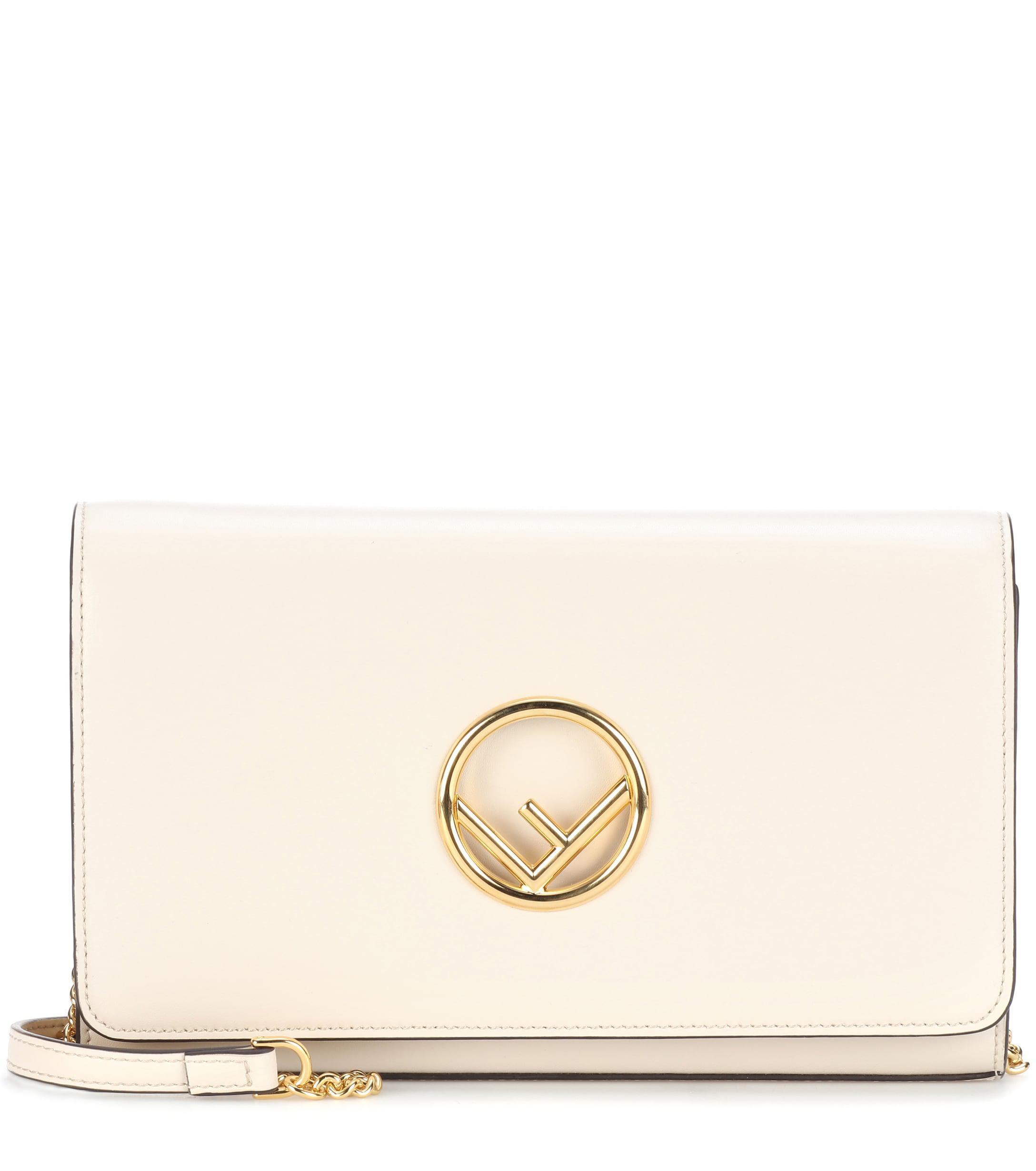 f8970a74e77 Fendi. Women s Wallet On Chain Leather Shoulder Bag