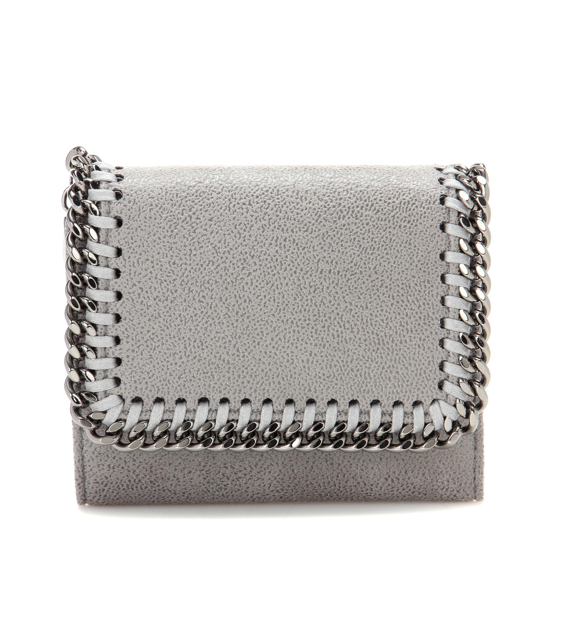 Best Store To Get For Sale Sale Fashionable mini Falabella flap wallet - Grey Stella McCartney Sale Big Sale pK1IRhN2m