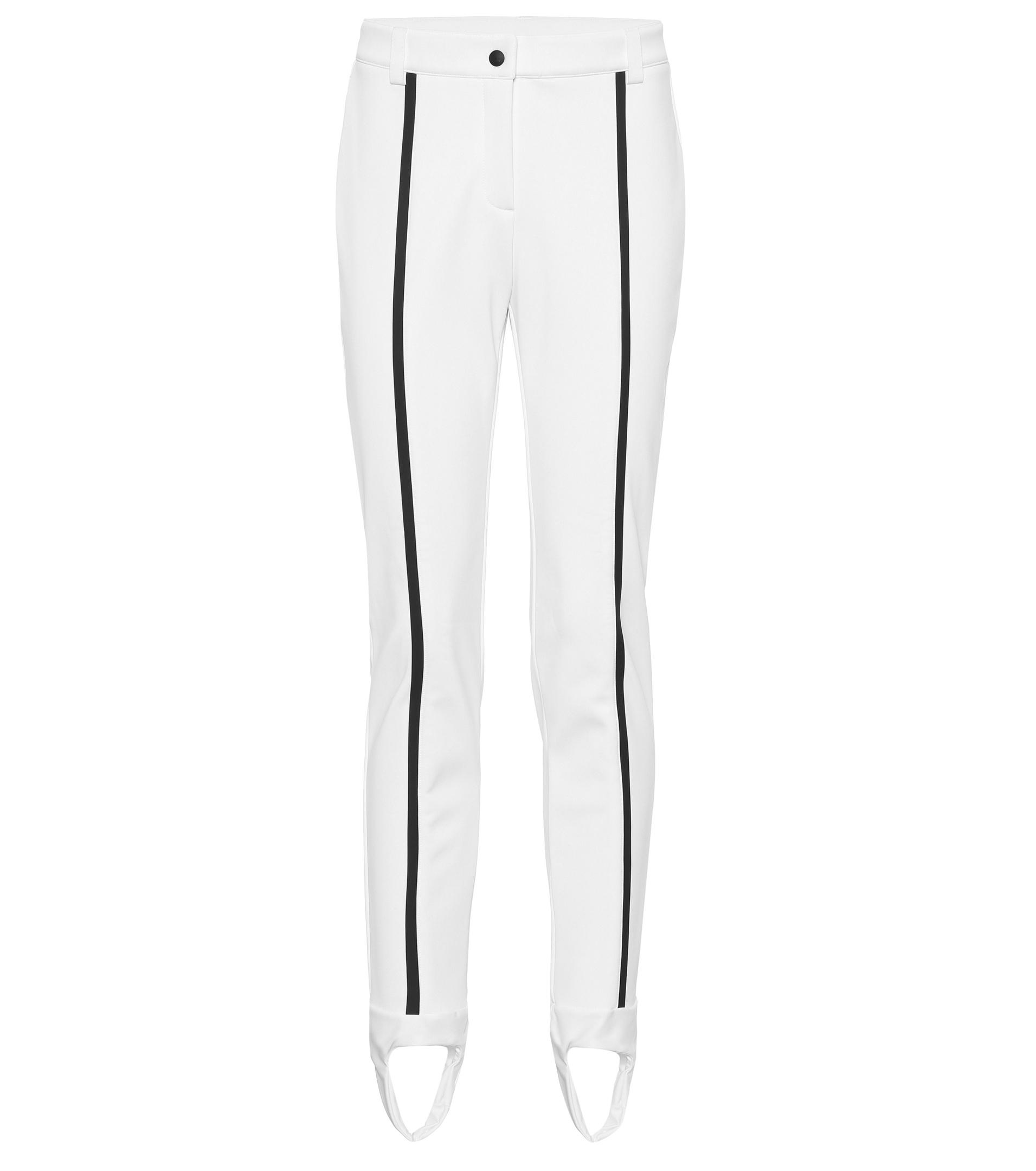 Lyst - Fendi Striped Stirrup Ski Trousers in White edbbcc268