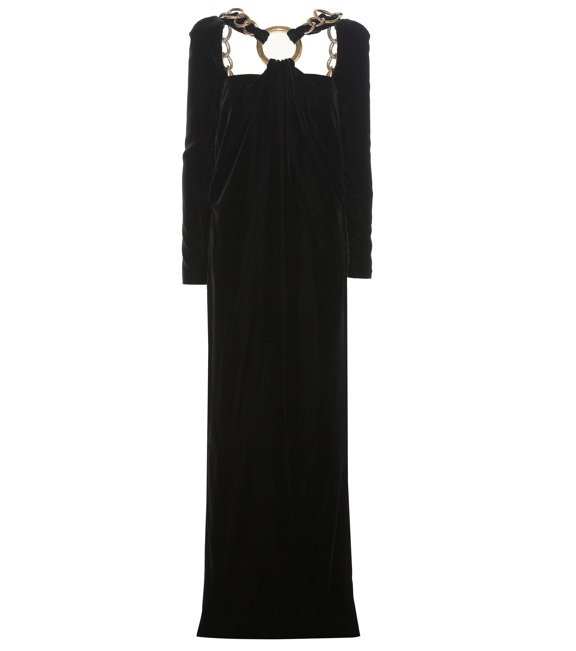 Tom Ford Embellished Velvet Gown in Black - Lyst
