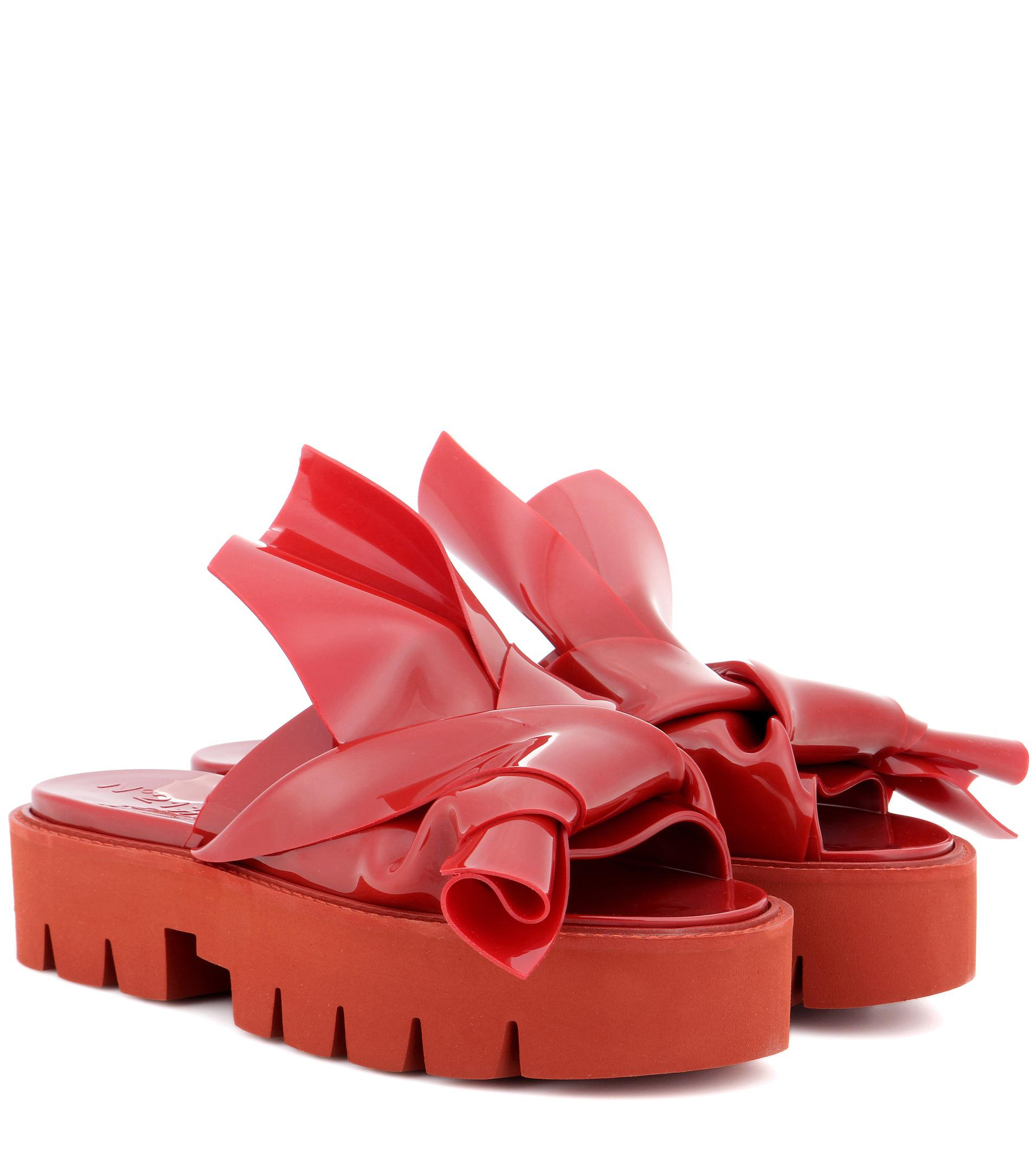knotted slingback slippers - Red N��21 A77u0C