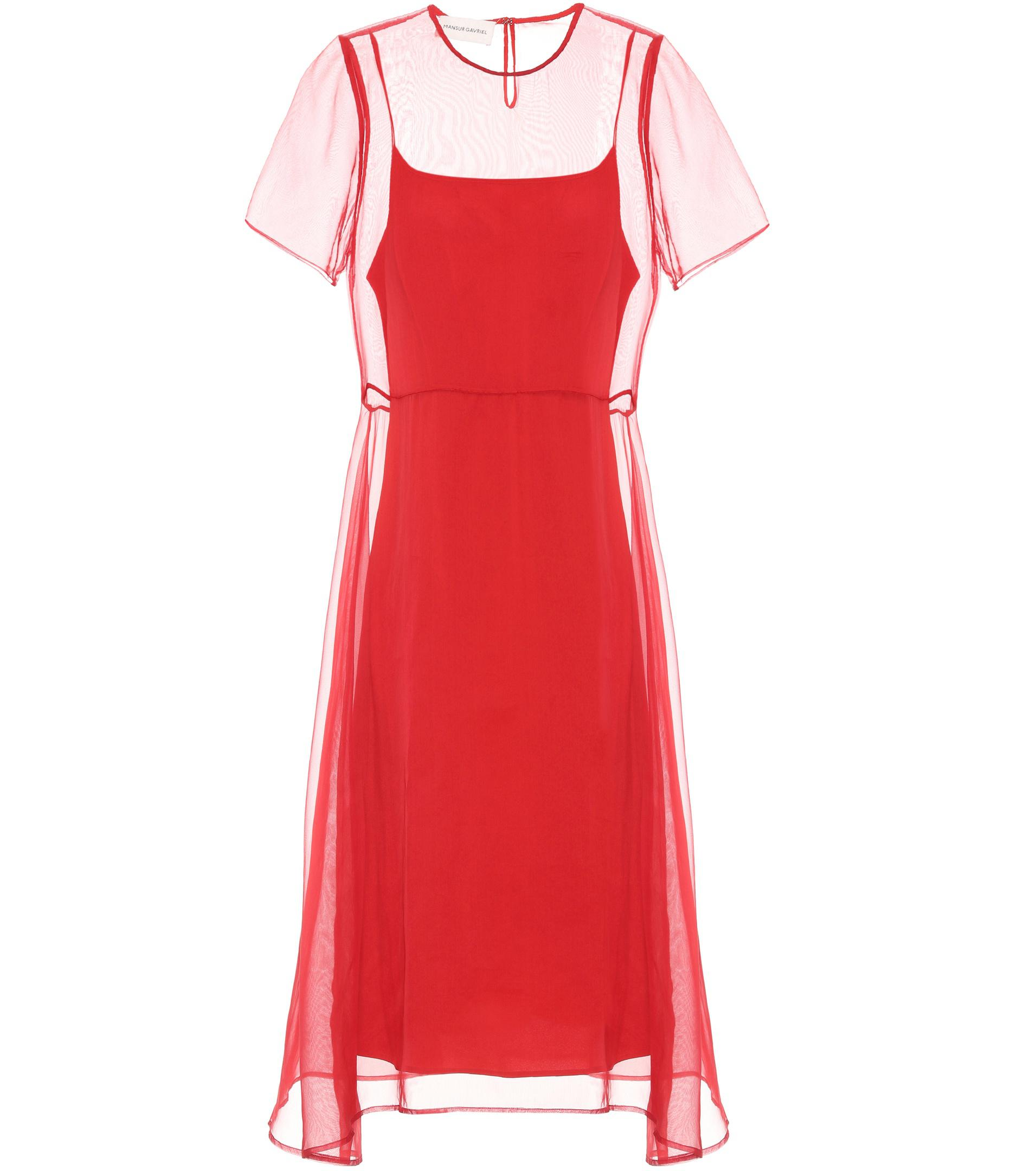 Layered silk dress Mansur Gavriel Outlet Original Buy Sale Online S7S44njh