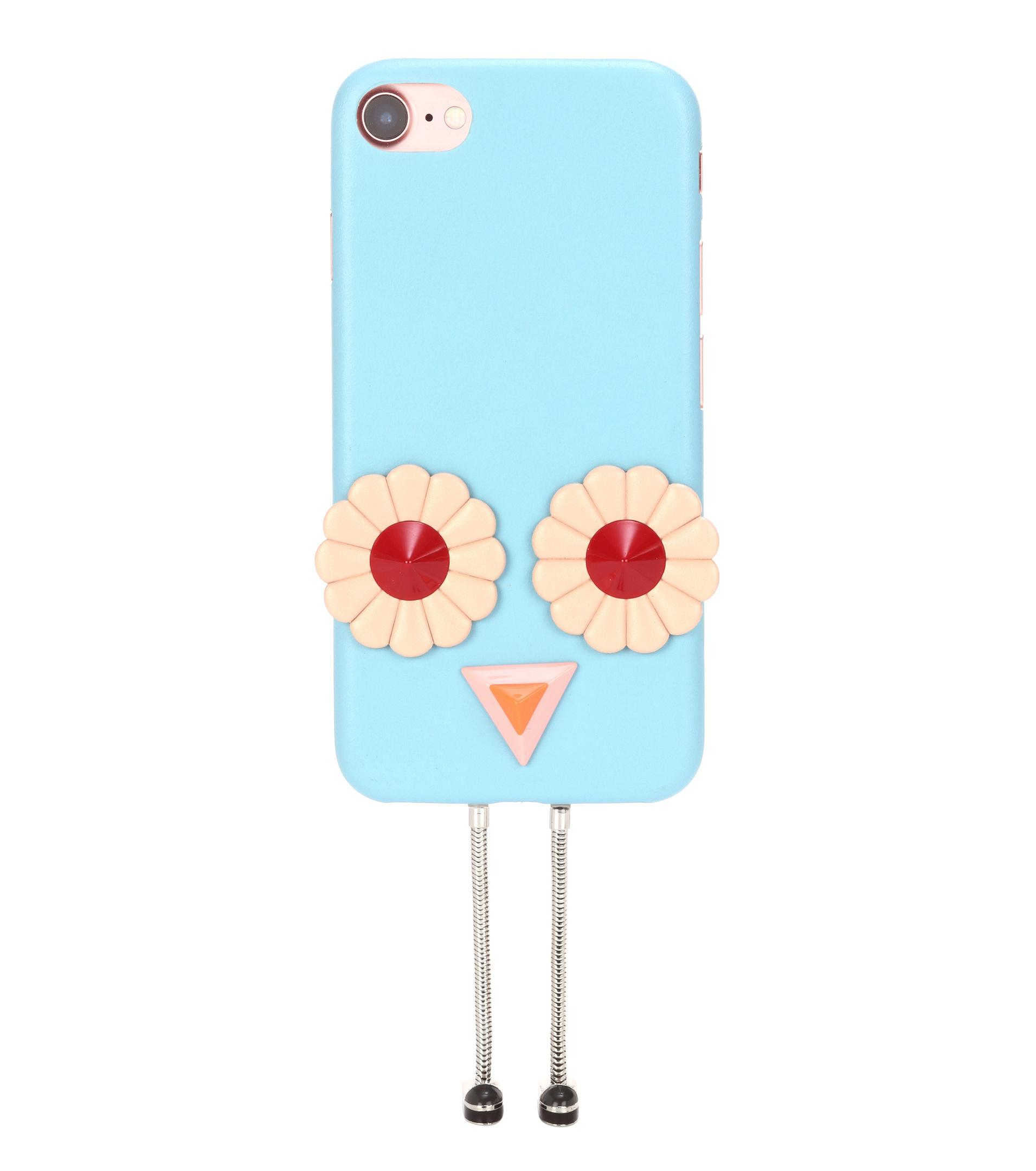 iPhone 7 embellished leather phone case Fendi UntAtp
