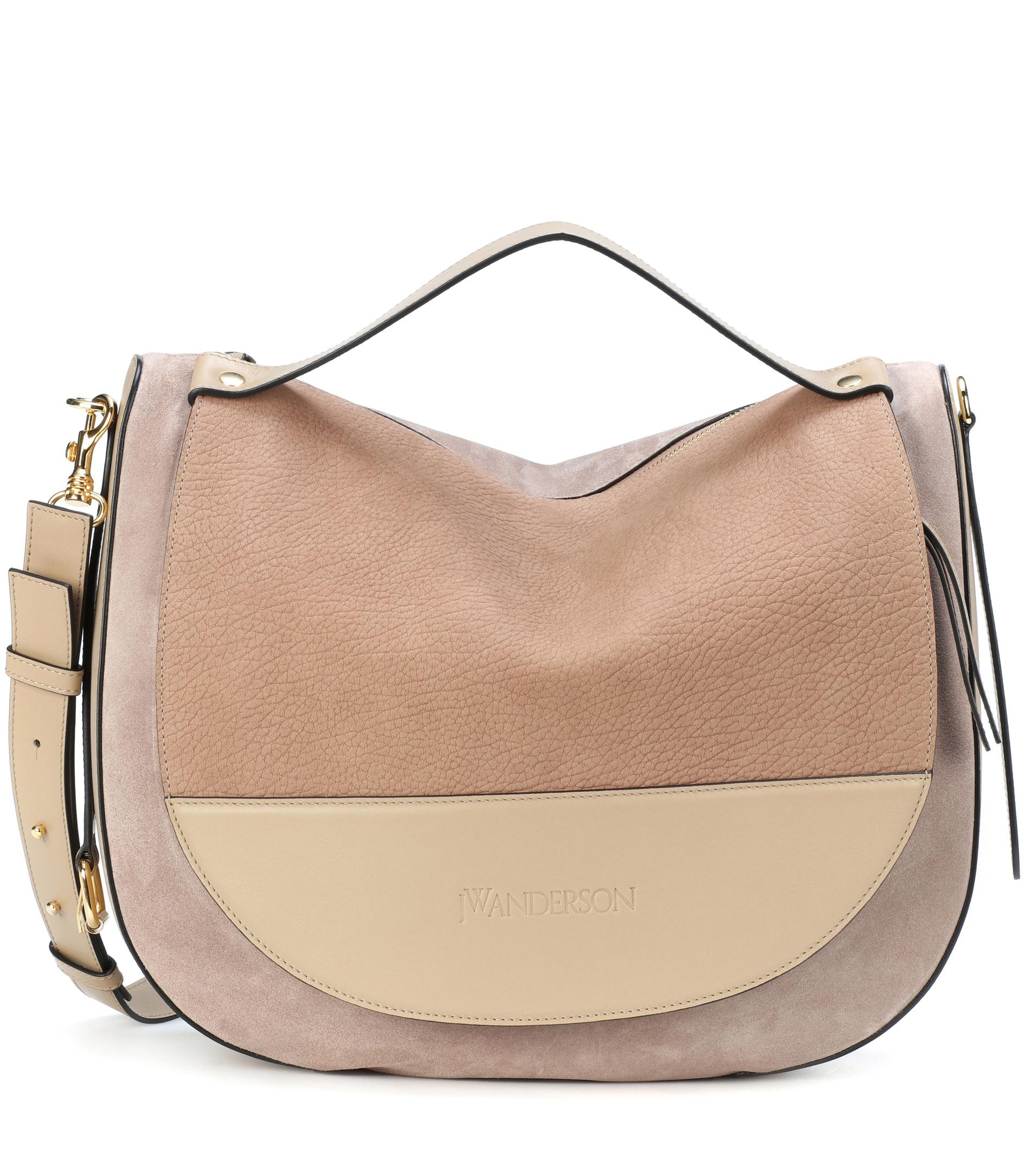 JW Anderson Moon Suede And Leather Shoulder Bag in Natural - Lyst 646f4a6b78aea