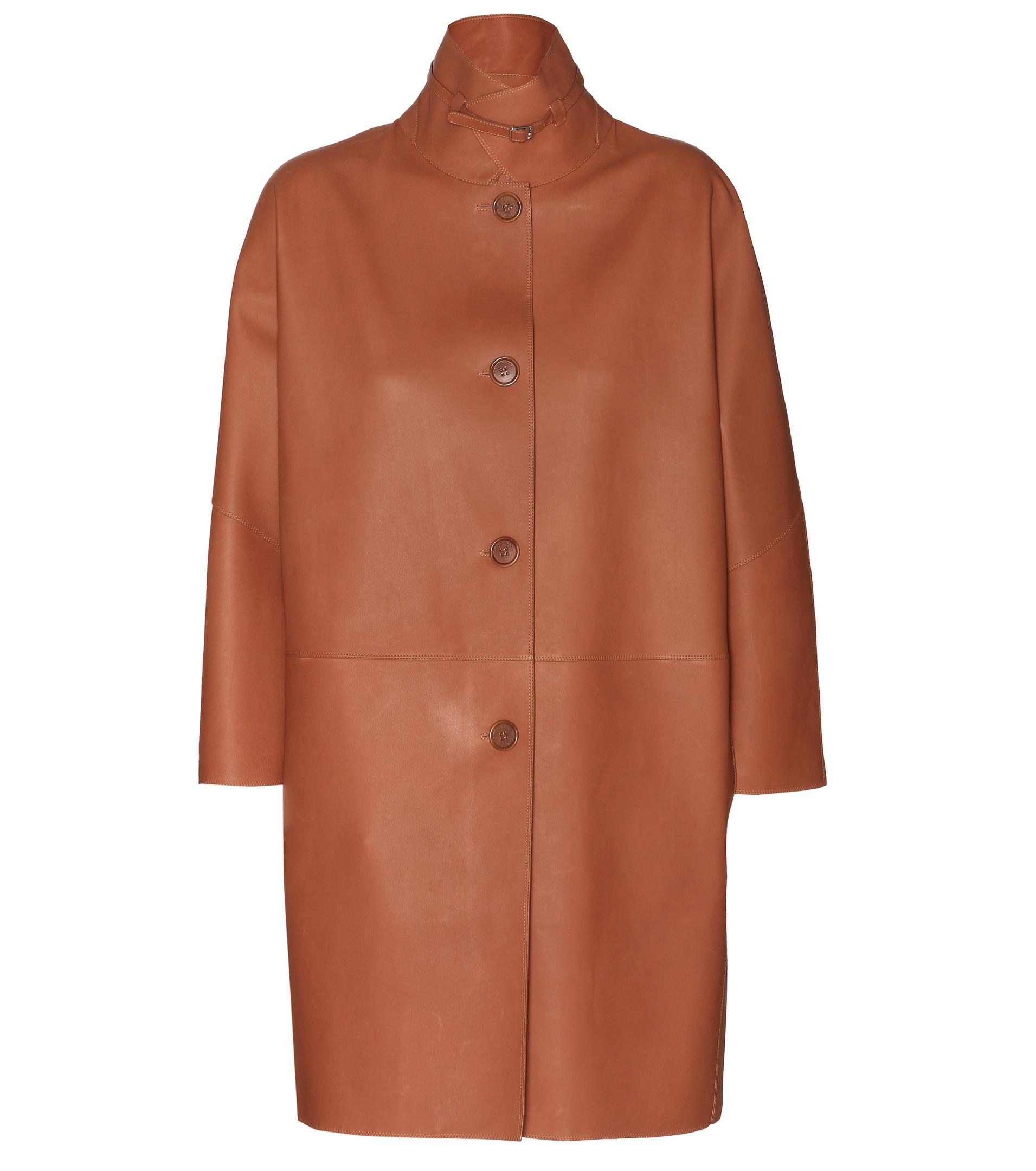 Loro Piana Spencer Leather Coat In Brown Lyst