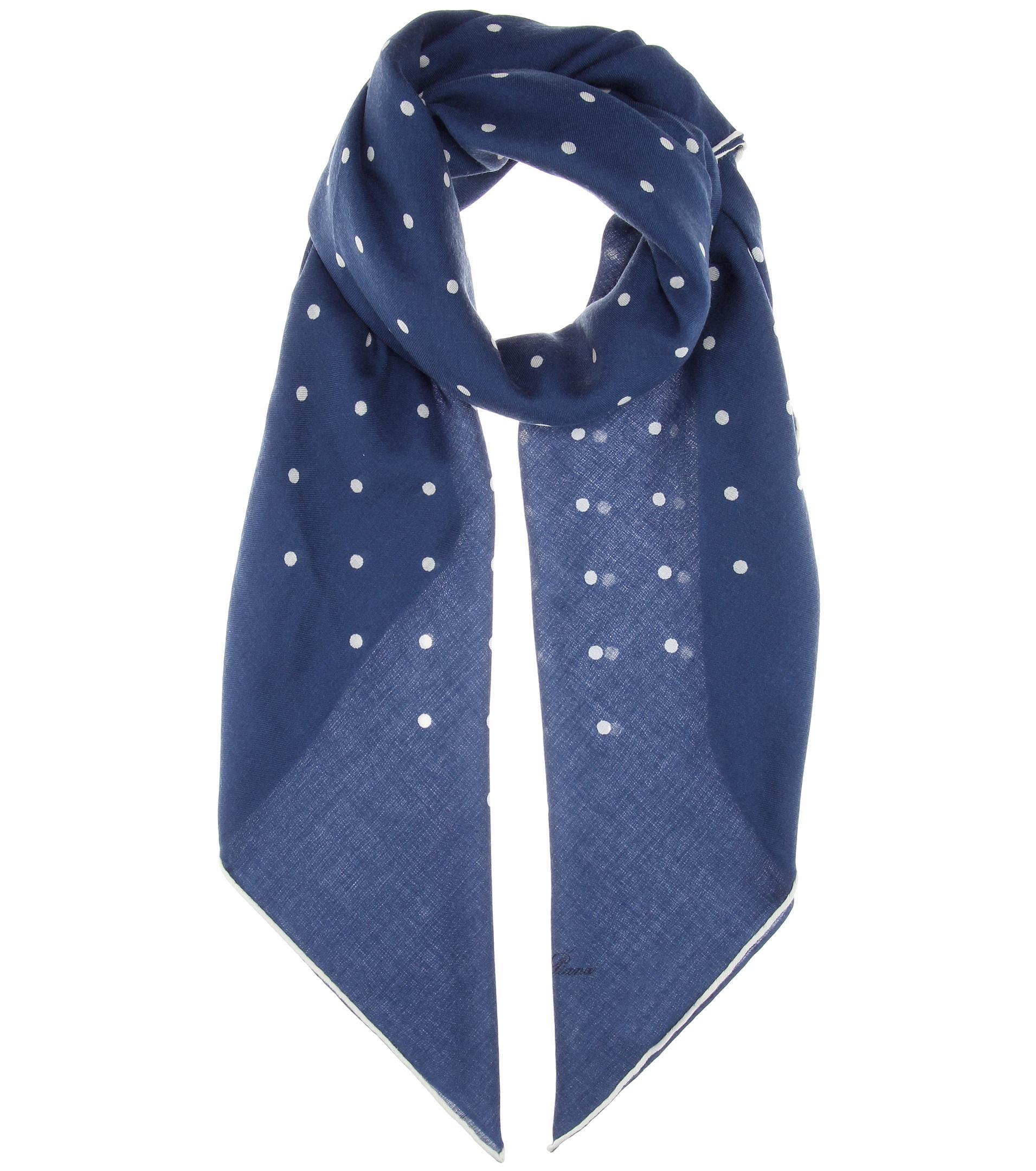 Loro piana Ascot Cashmere And Silk-blend Scarf in Blue ...