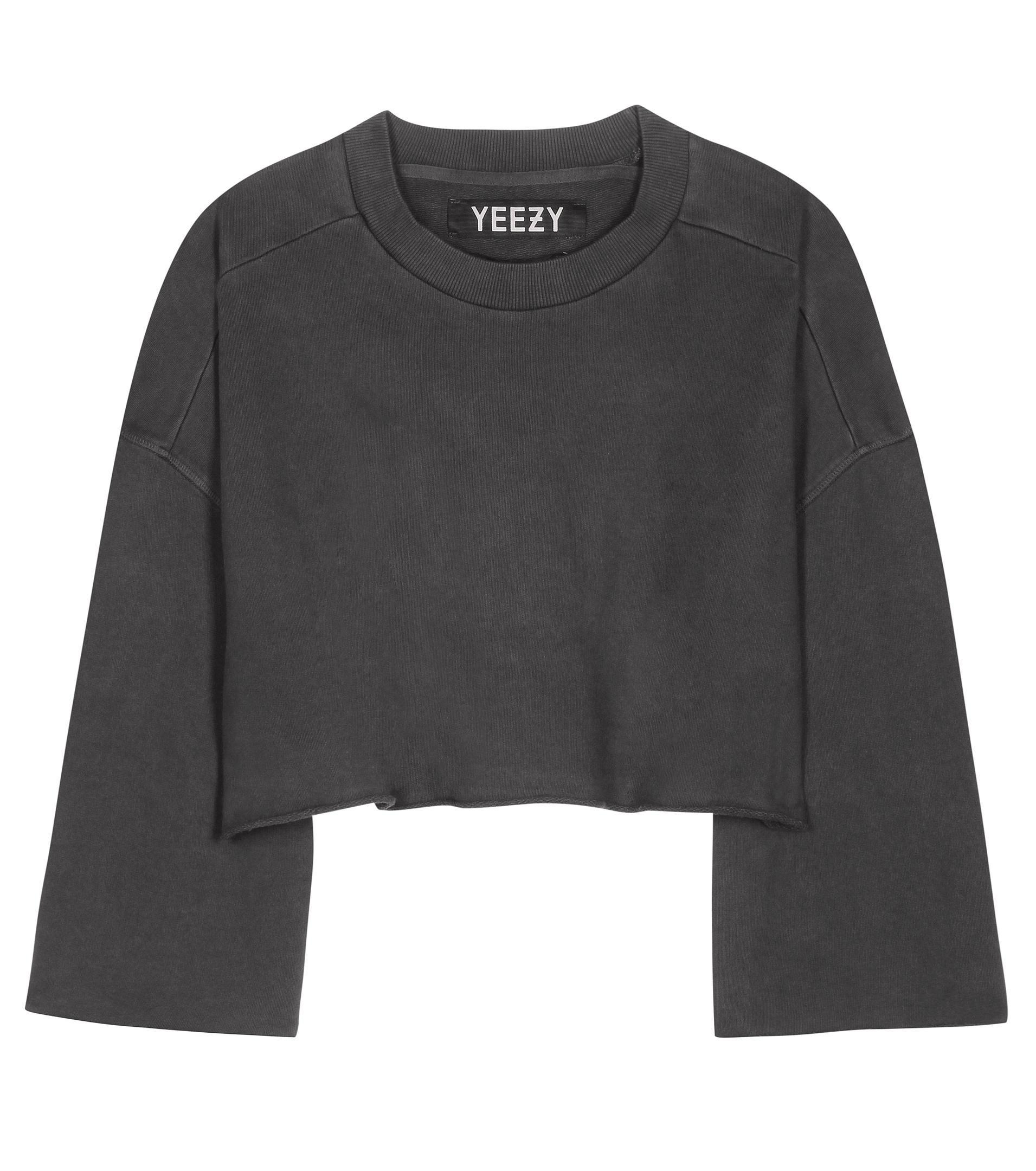 Yeezy Cropped Cotton Sweater (season 1) in Gray | Lyst