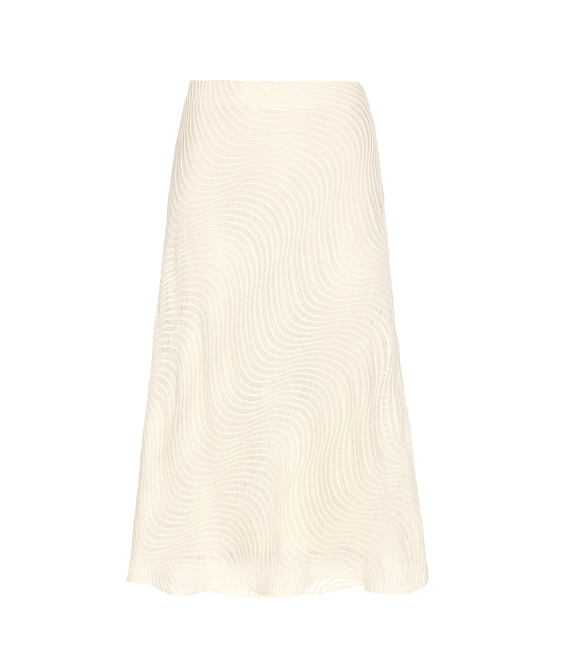 by malene birger lineah cotton midi skirt in white lyst