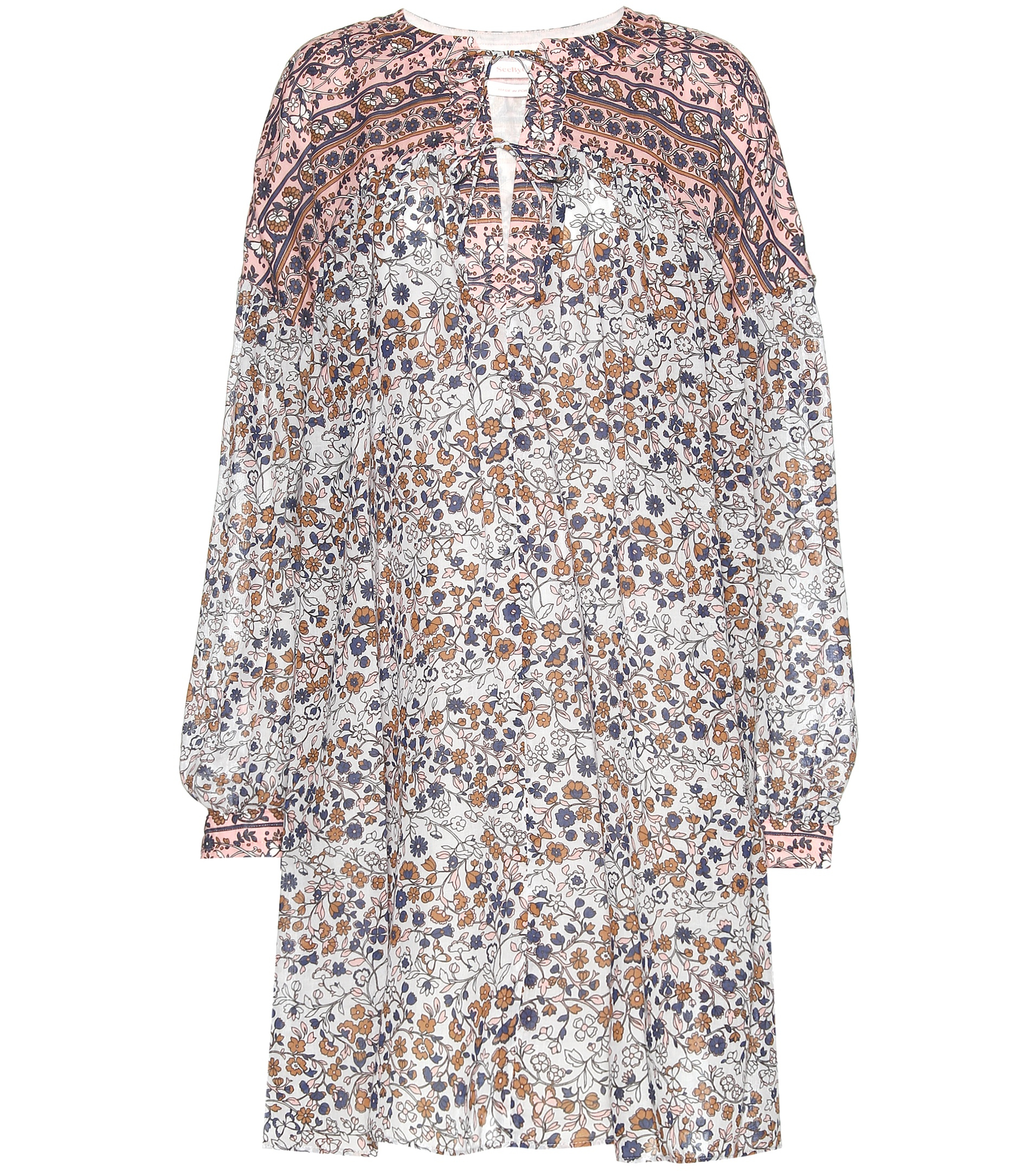 See by chloé Flower Print Dress in White
