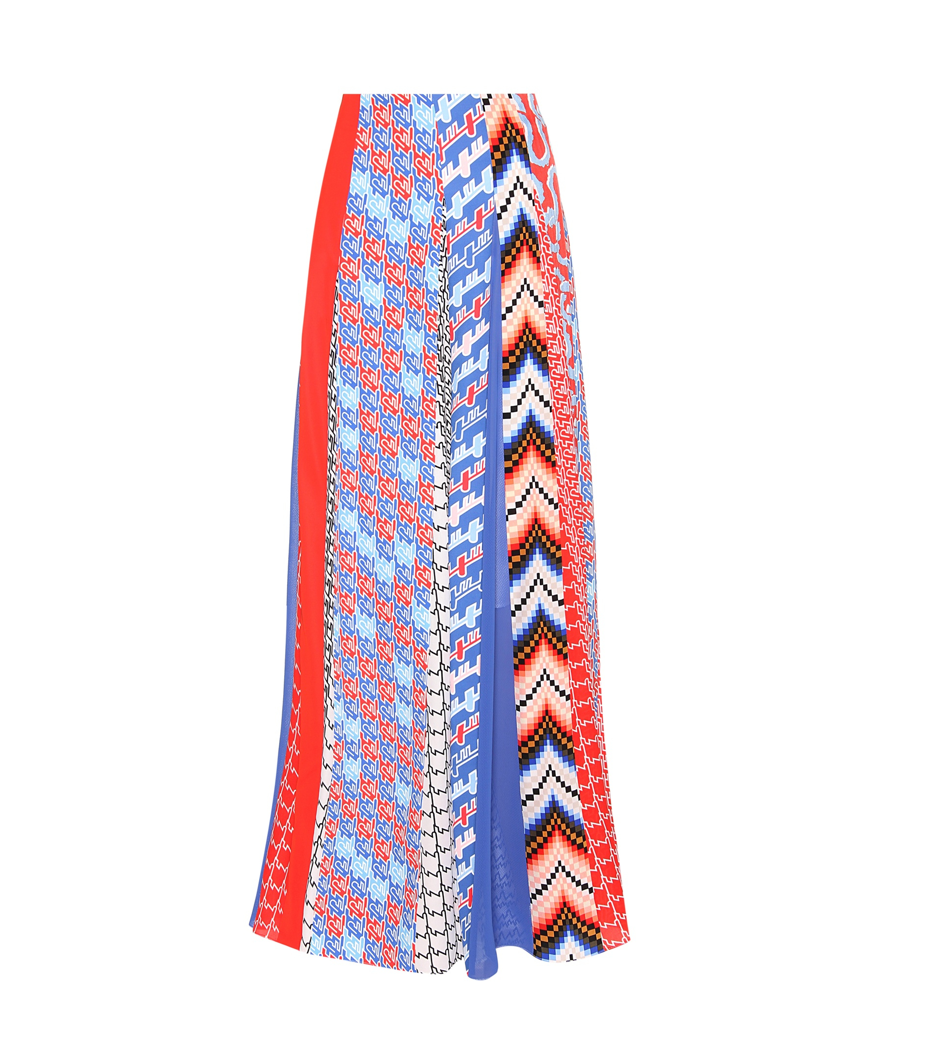 kenzo printed maxi skirt in blue lyst