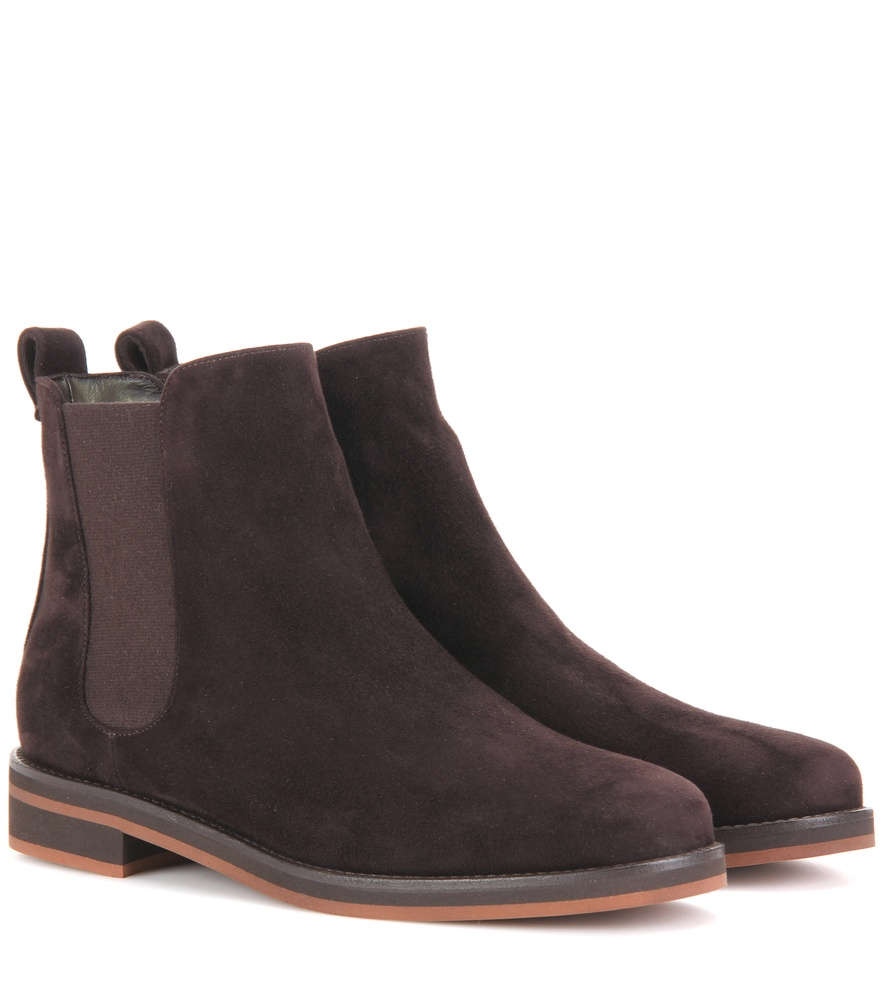 loro piana montrond suede chelsea boots in brown lyst. Black Bedroom Furniture Sets. Home Design Ideas