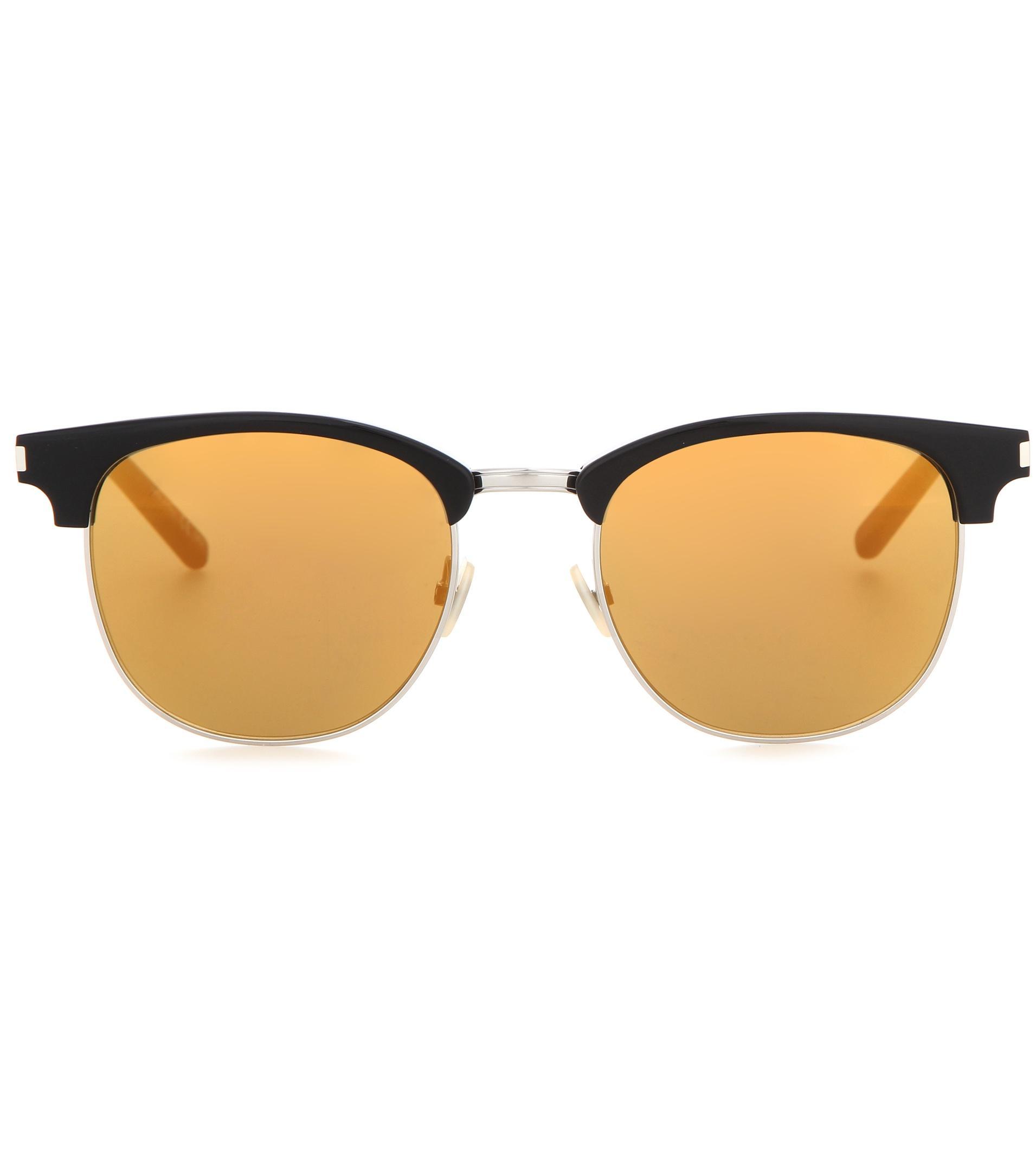 25a8fb9ad51 Lyst - Saint Laurent Sl 108 Surf 52 Mirrored Sunglasses in Metallic